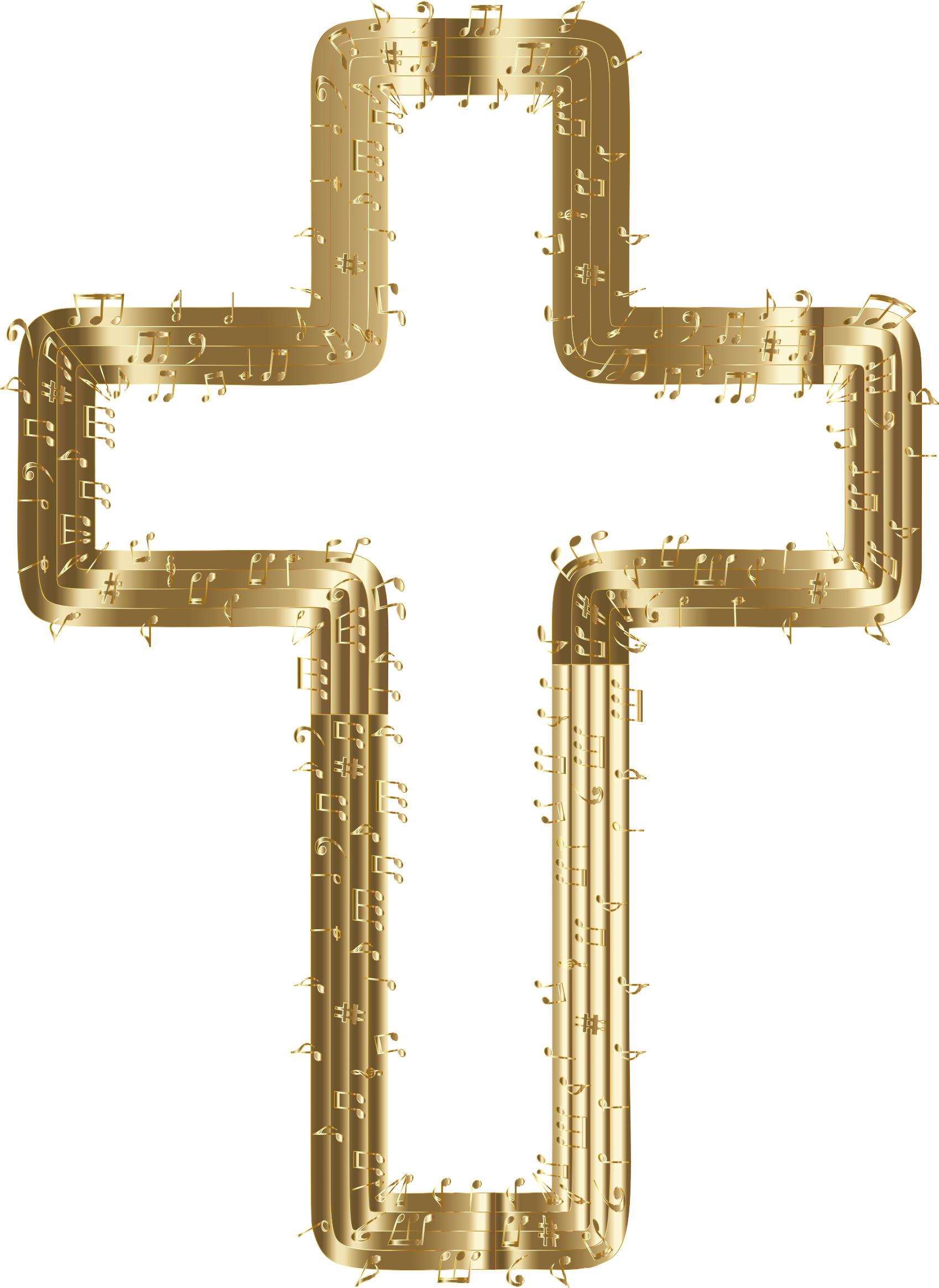 Musical Cross Gold by GDJ