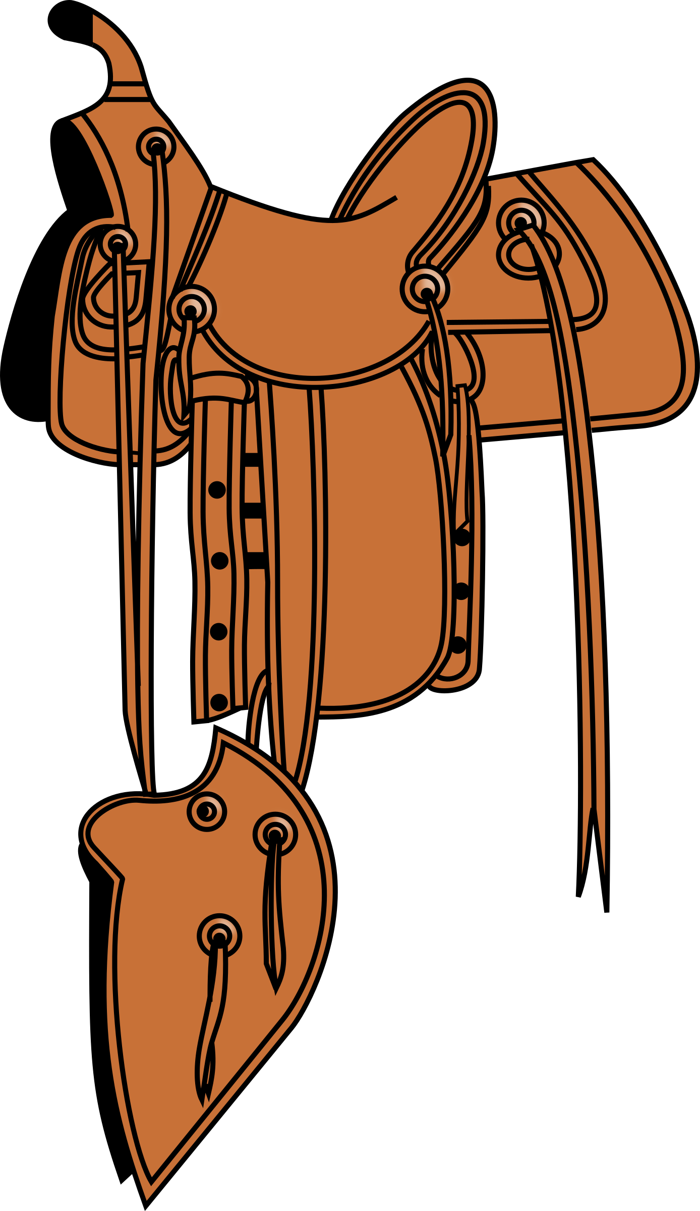 Cowboy saddle, colored by carmen2008