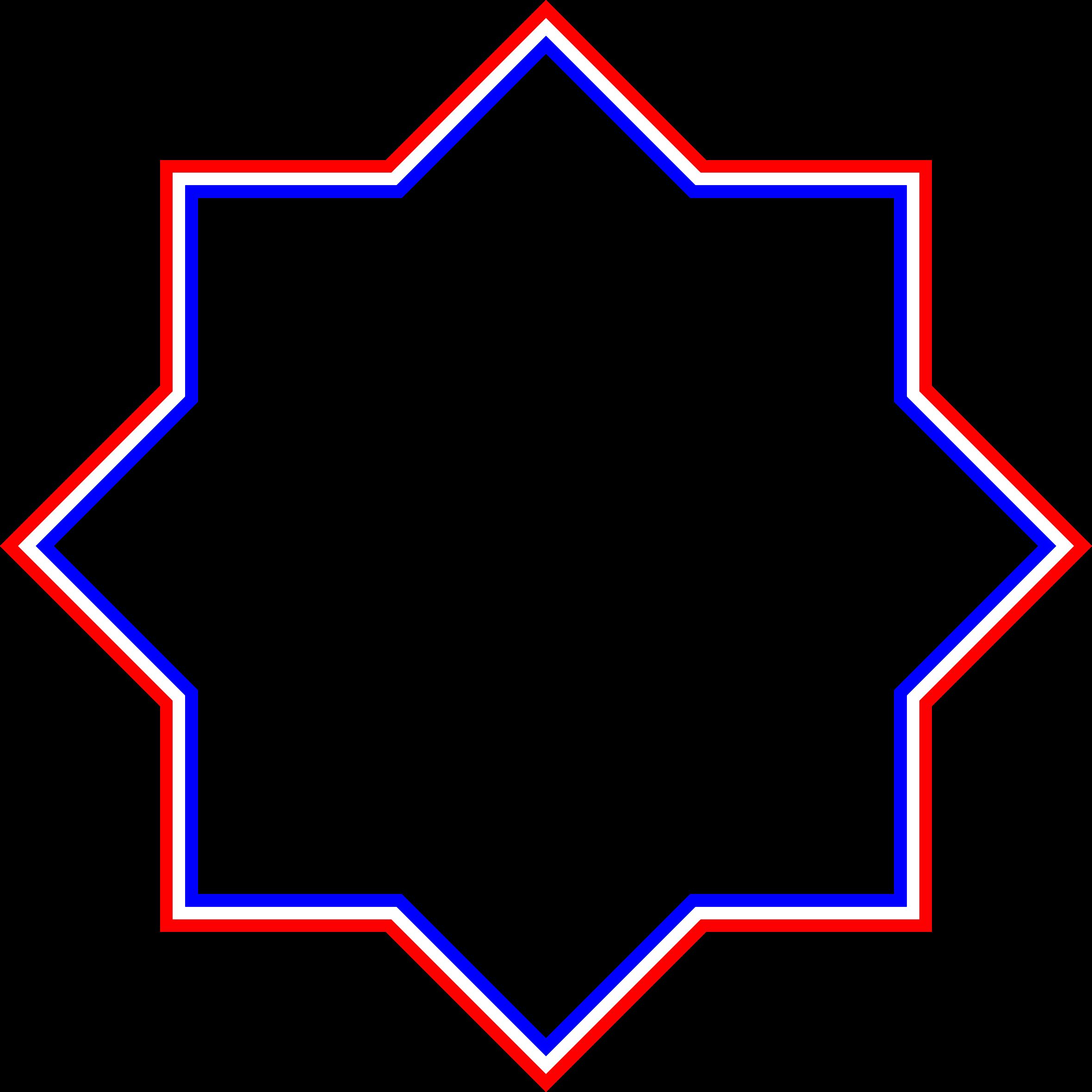 Clipart - Red White Blue Frame 3