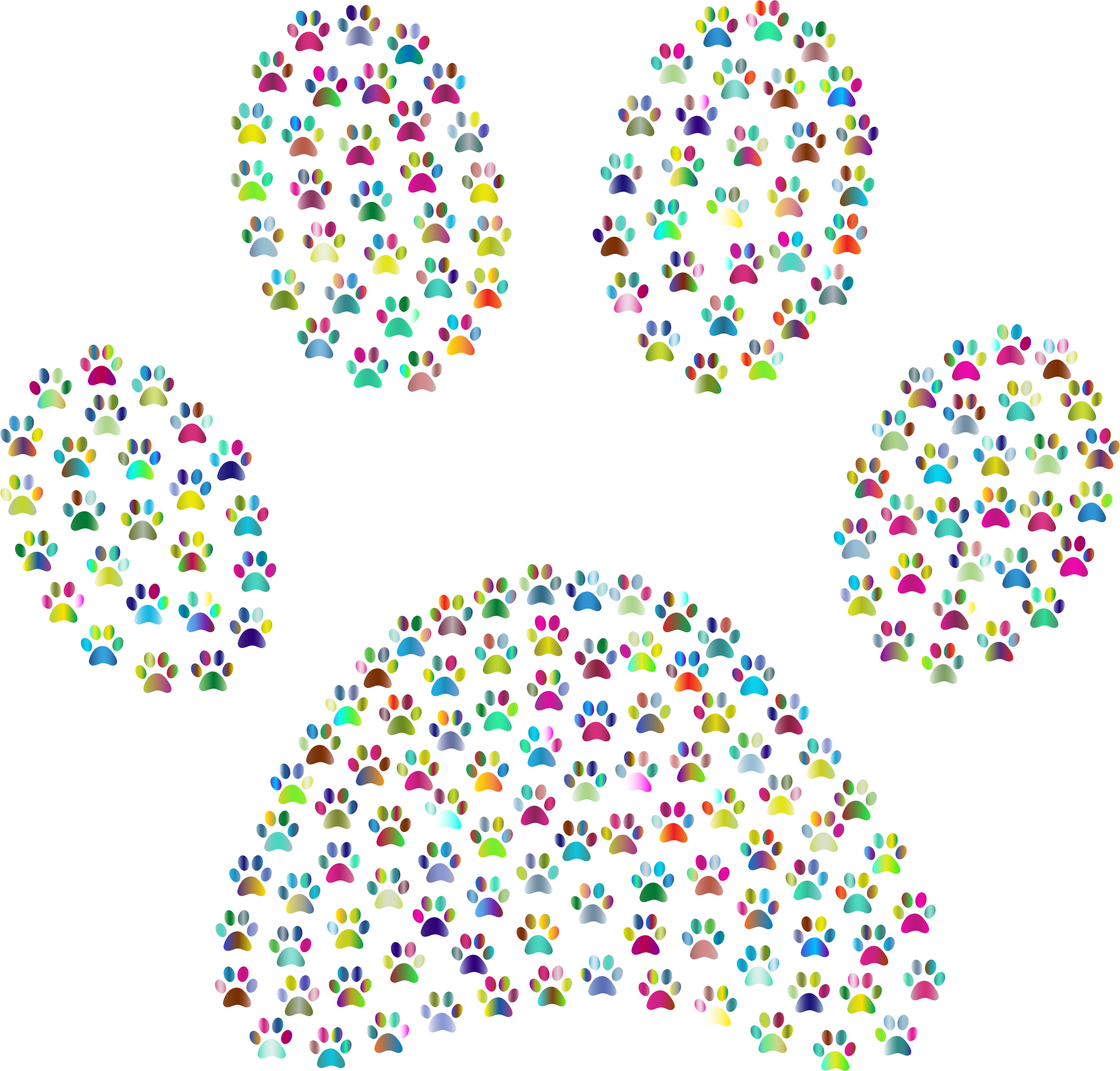 Paw Print Fractal Polyprismatic by GDJ