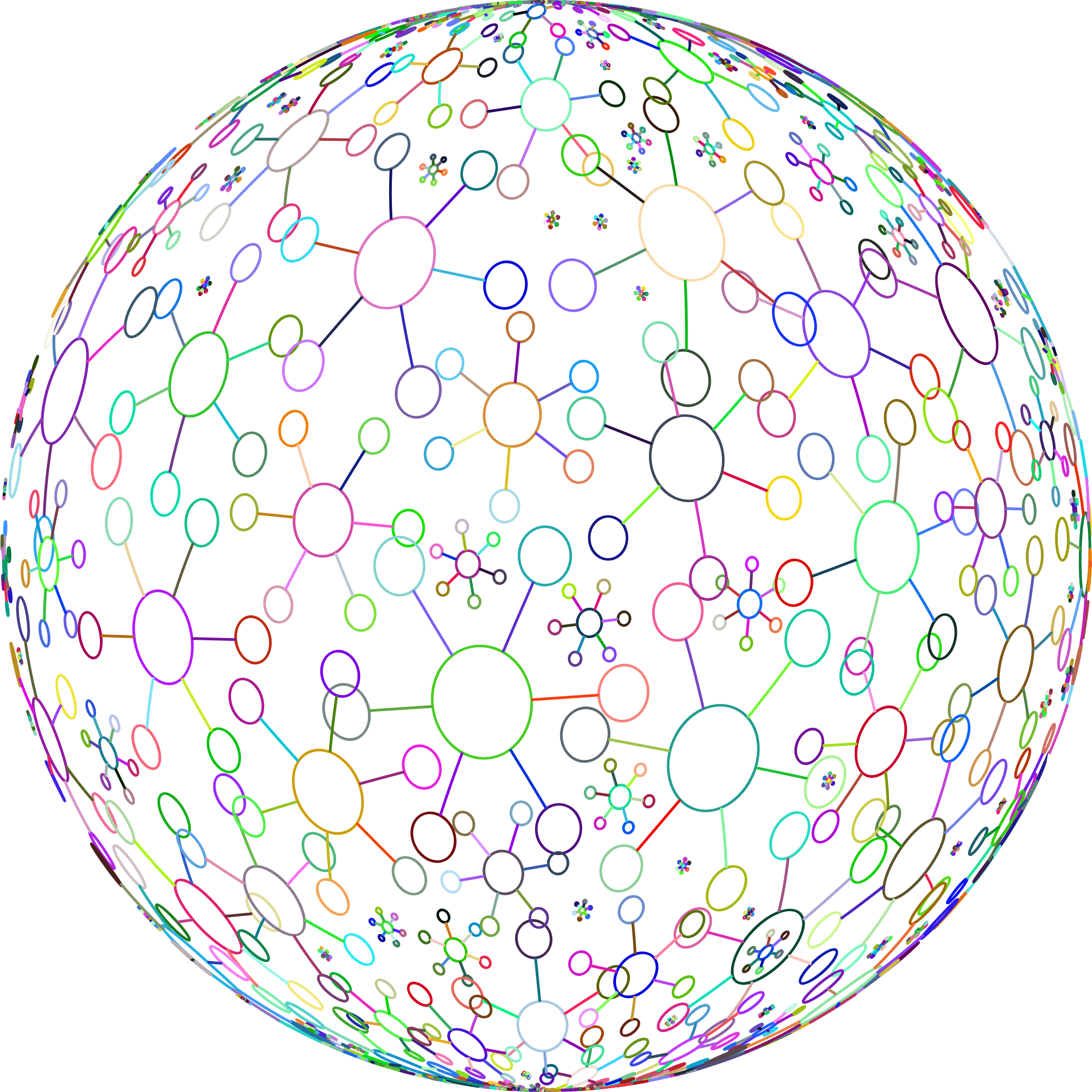 Abstract Molecular Sphere Prismatic by GDJ