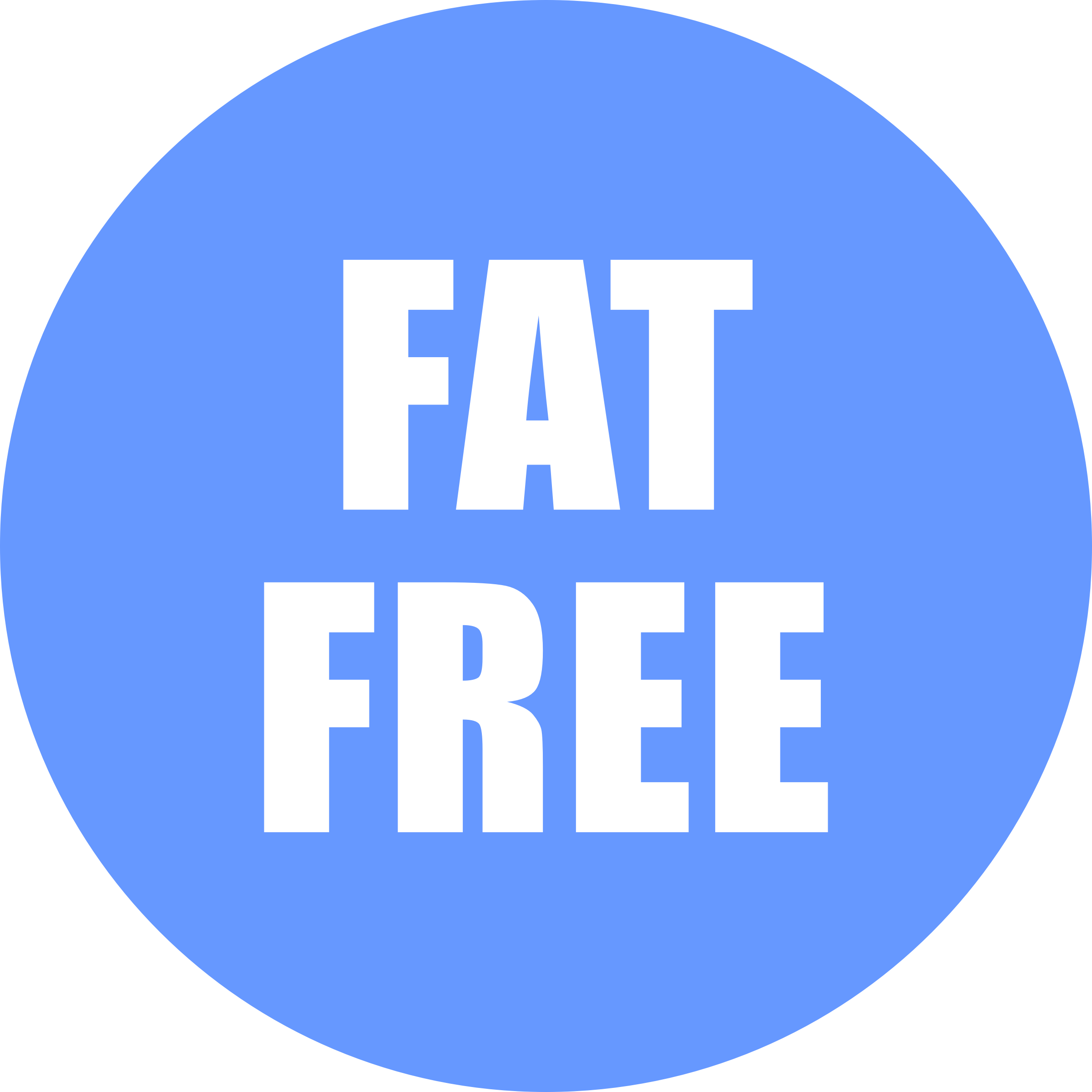 Fat Free Icon Blue by OnlineLabels