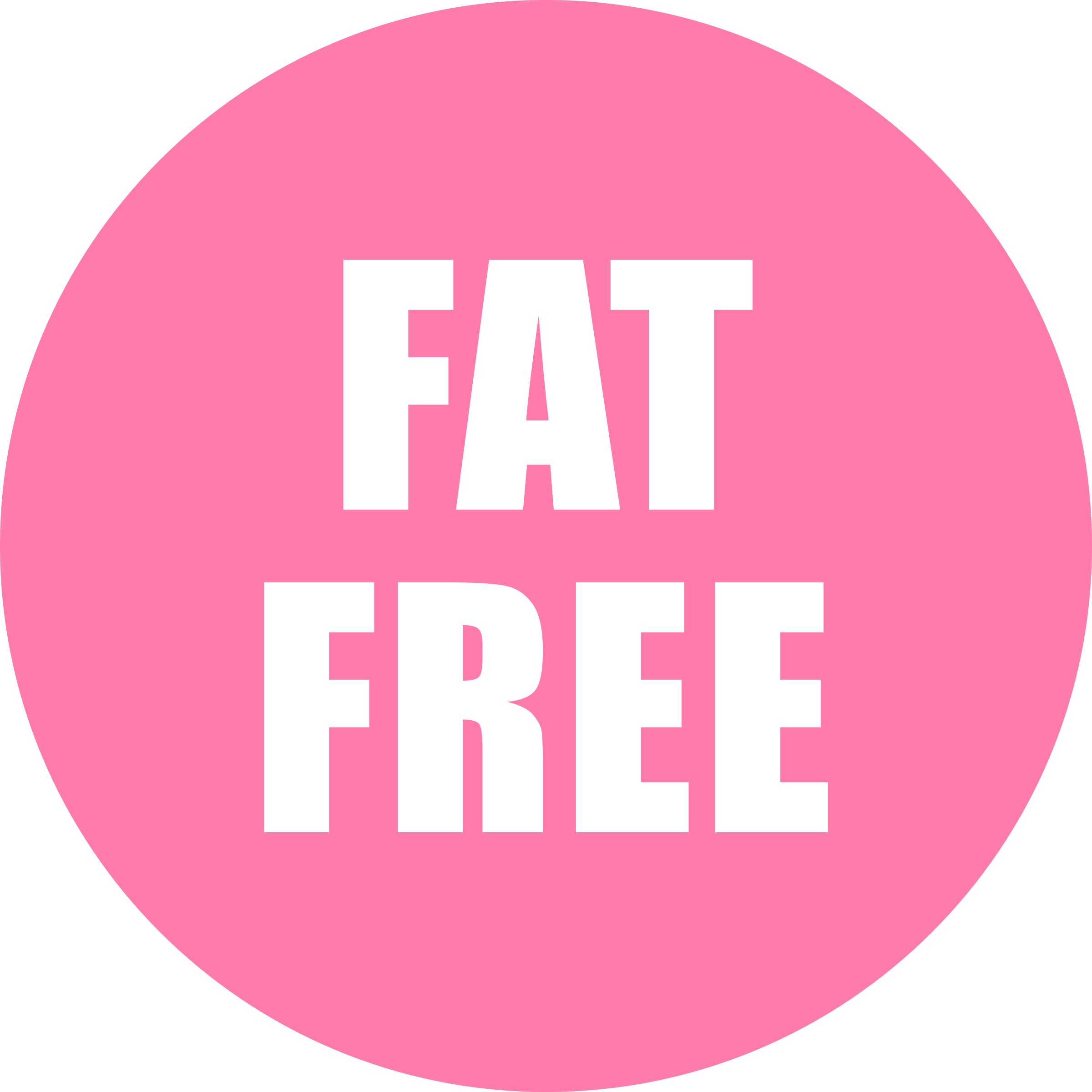 Fat Free Icon Pink by OnlineLabels