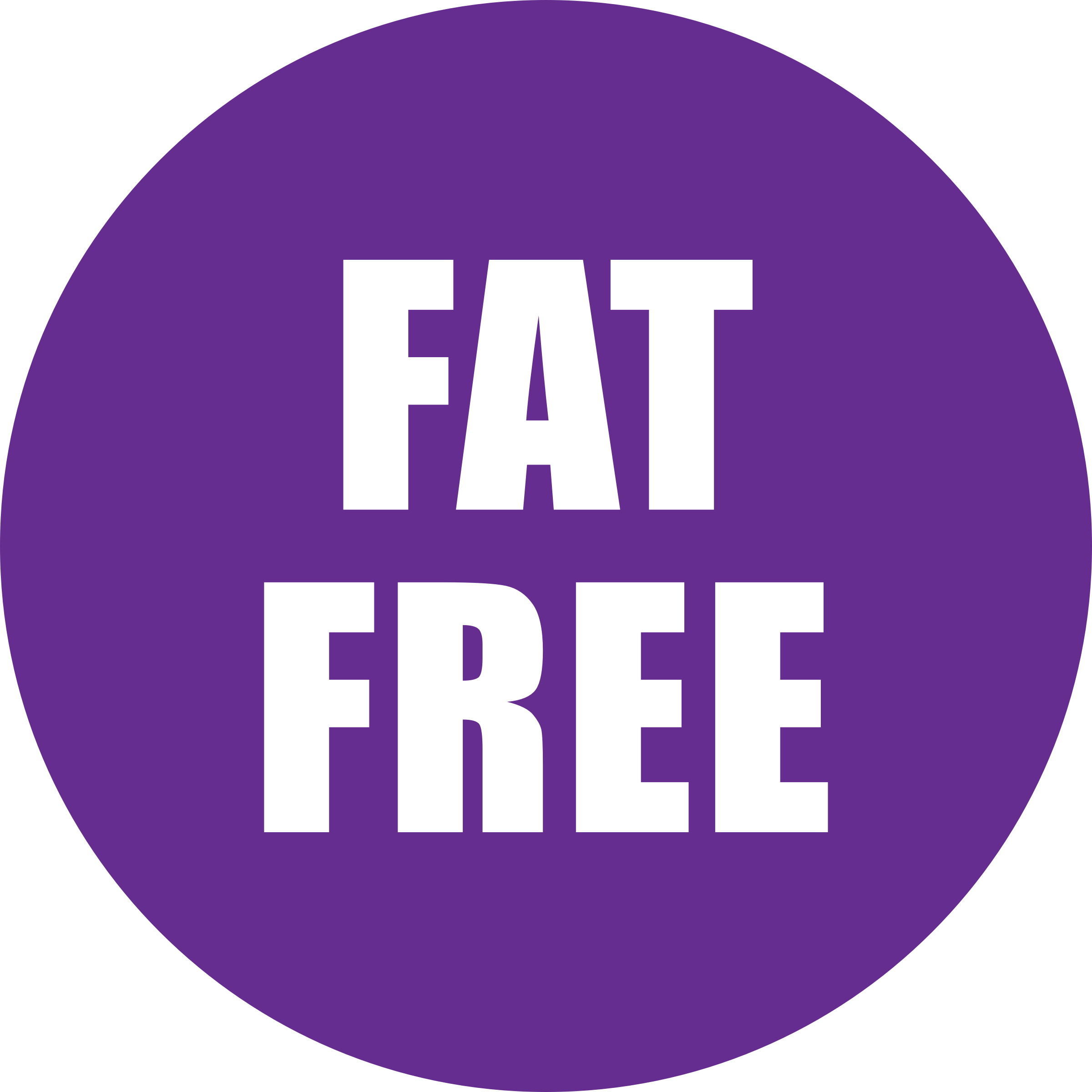 Fat Free Icon Purple by OnlineLabels
