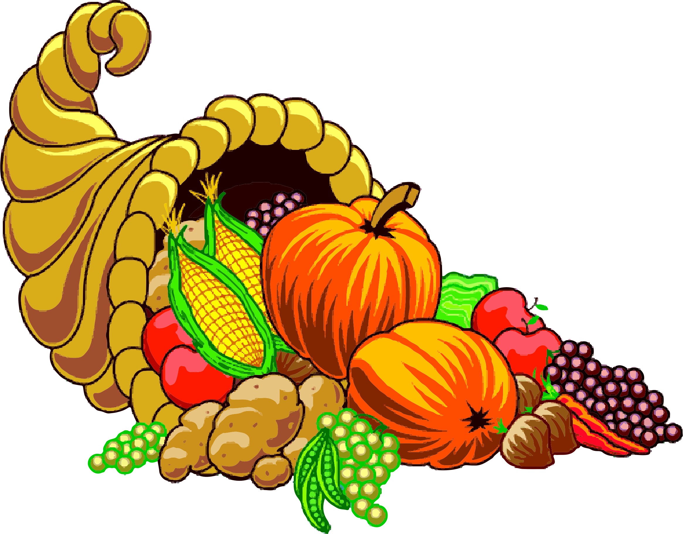 clipart cornucopia lq clip art thanksgiving fruits psalm 100 clip art thanksgiving fruits psalm 100