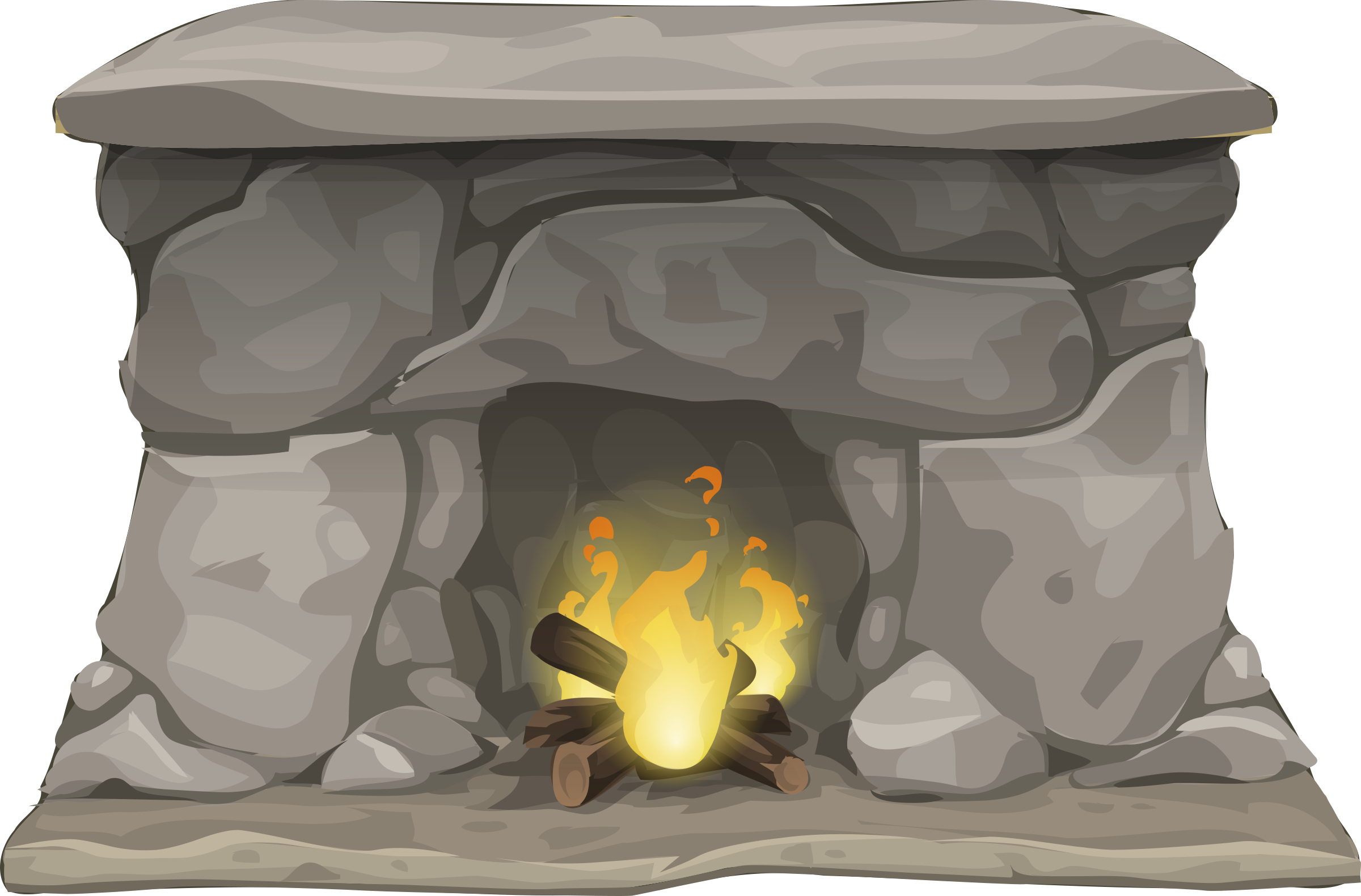 Fireplace with Fire by j4p4n