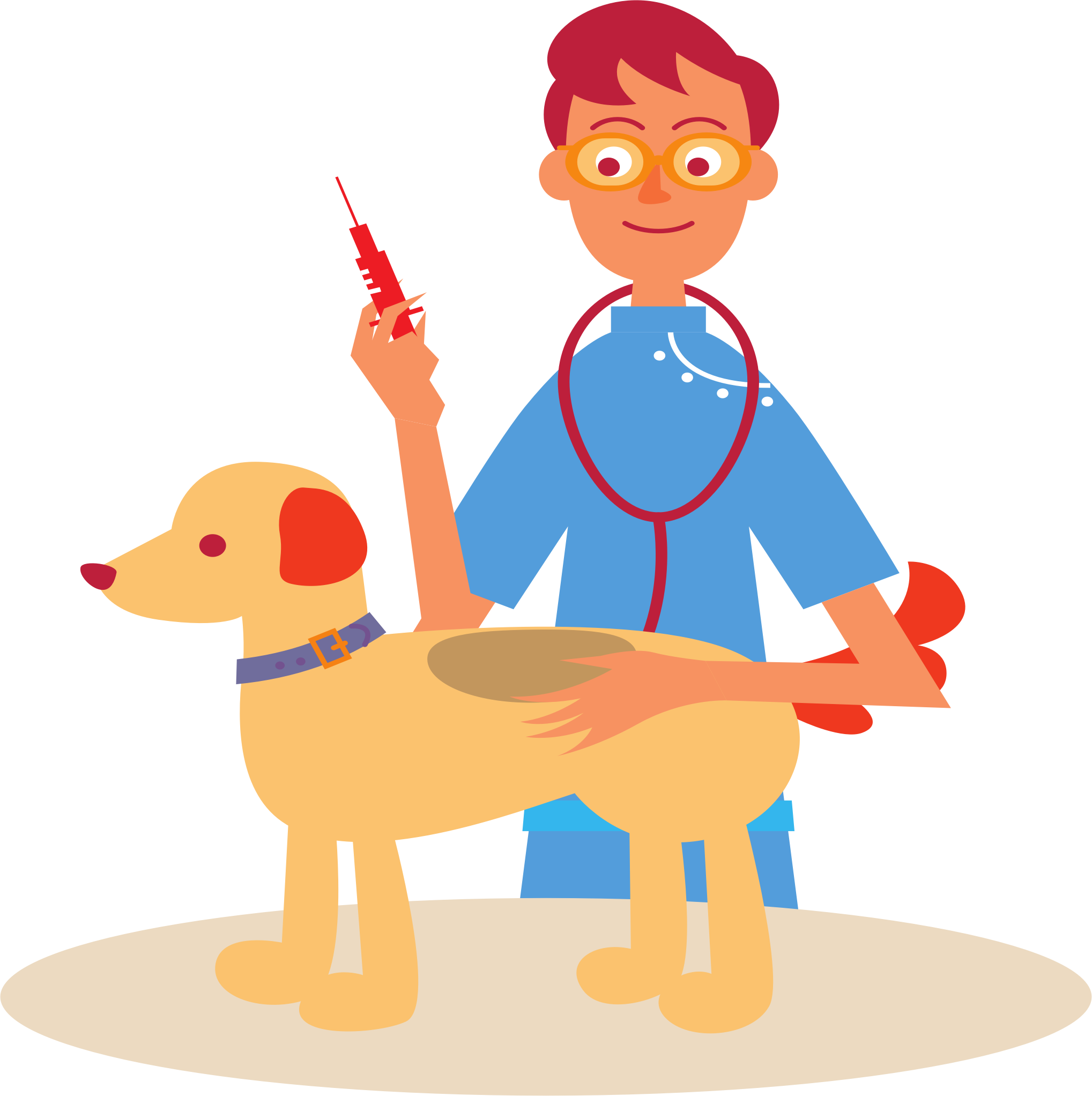 Veterinarian​ and Dog by j4p4n