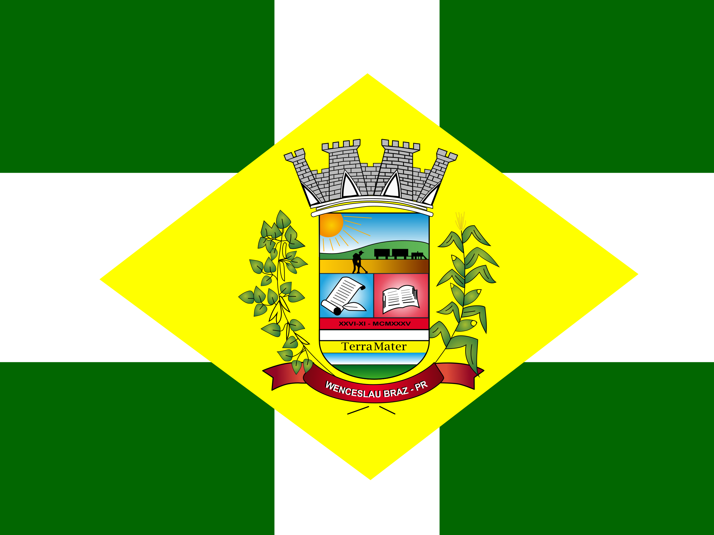 Flag of Wenceslau Braz, Bandeira de Wenceslau Braz by victorwestmann