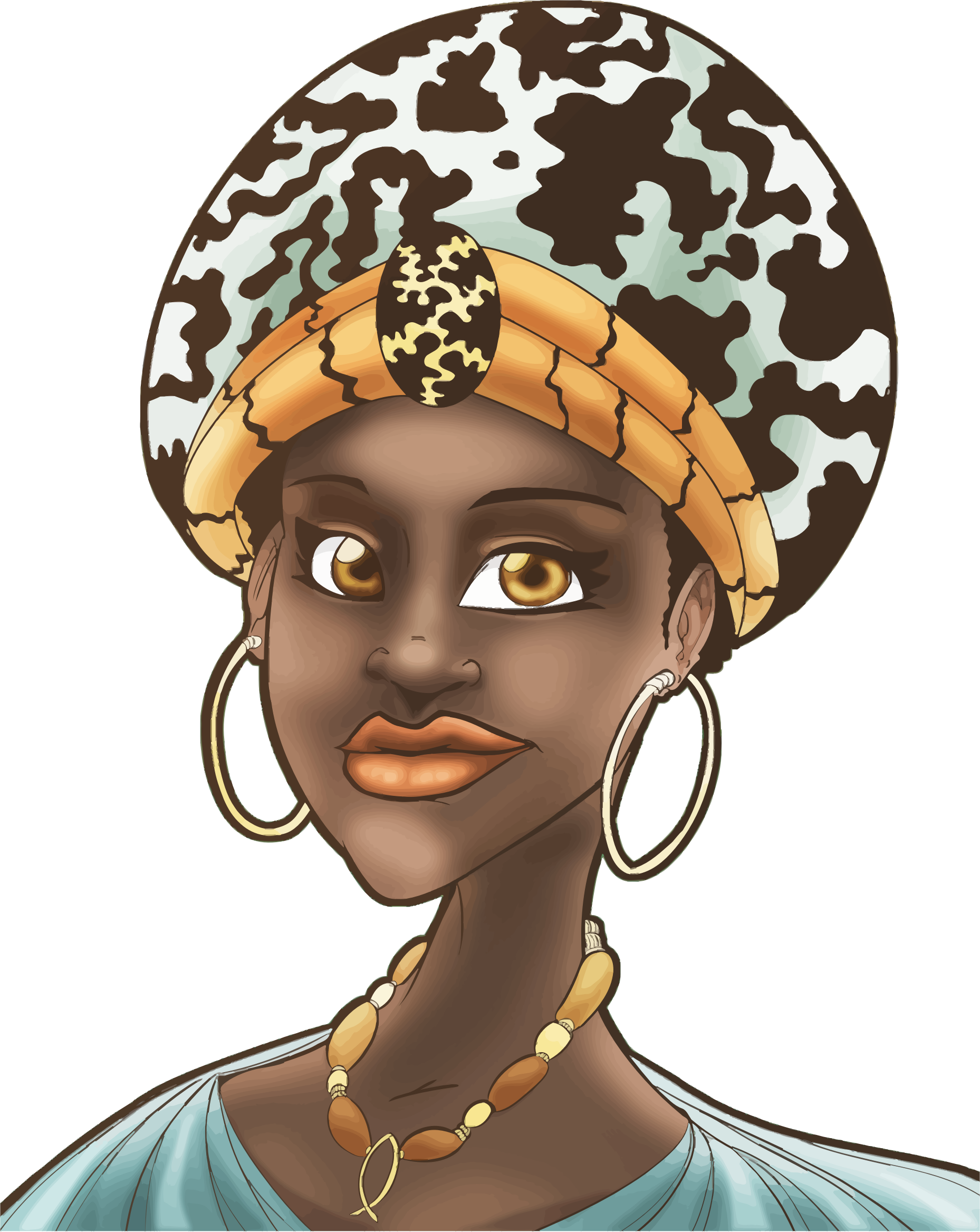 African Woman Illustration by GDJ