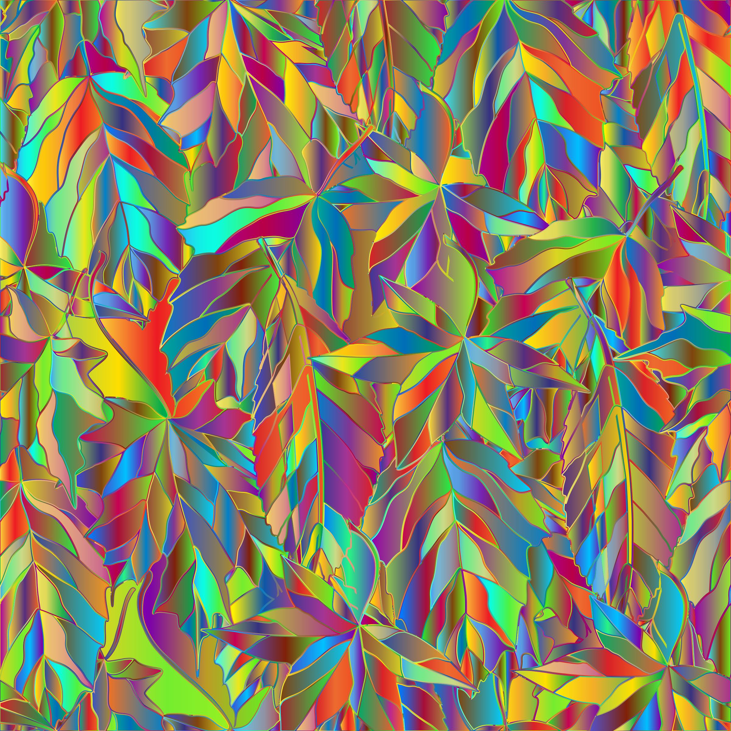 Polyprismatic Leaves Background by GDJ
