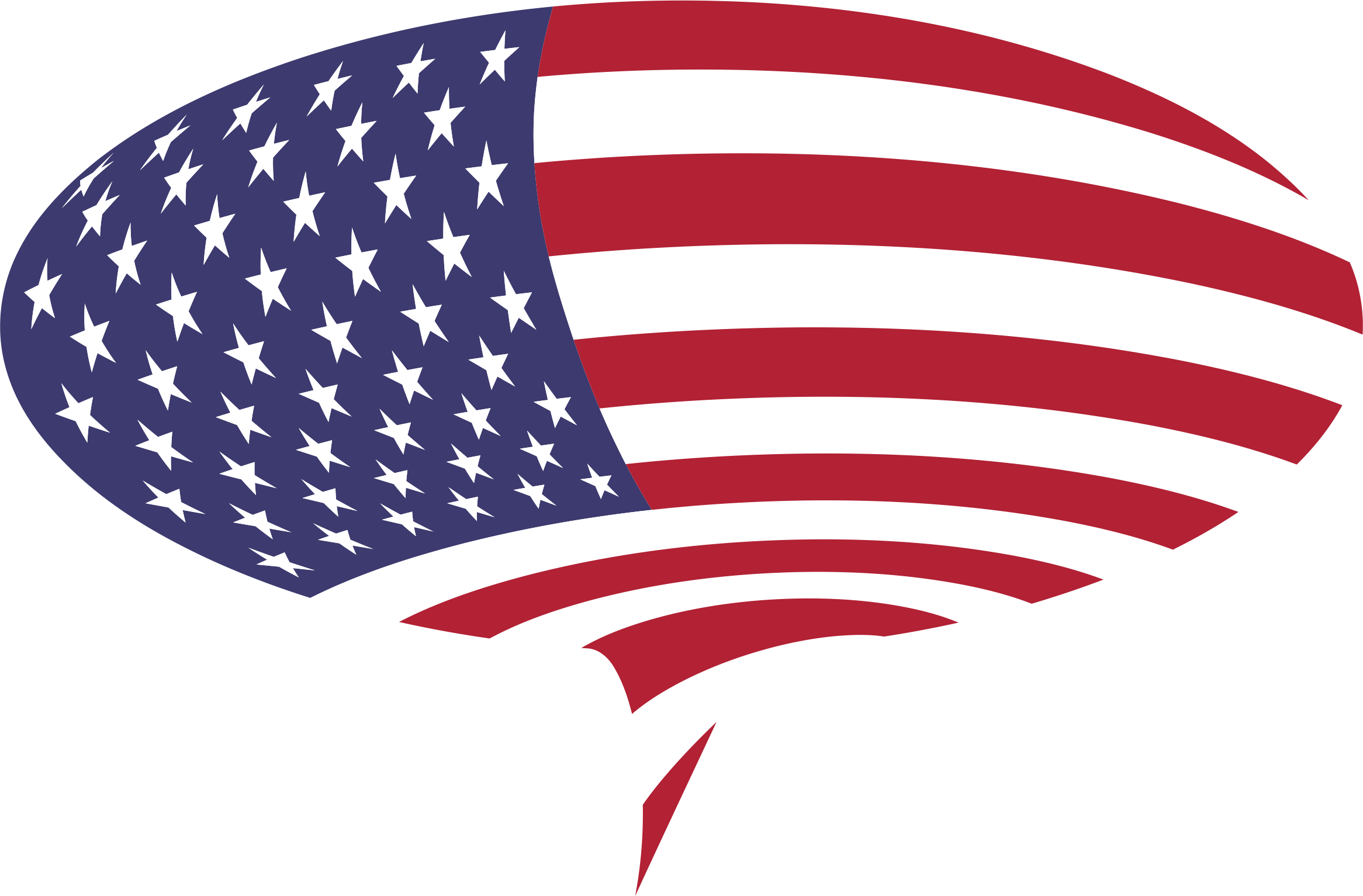 American Flag Speech Bubble by GDJ