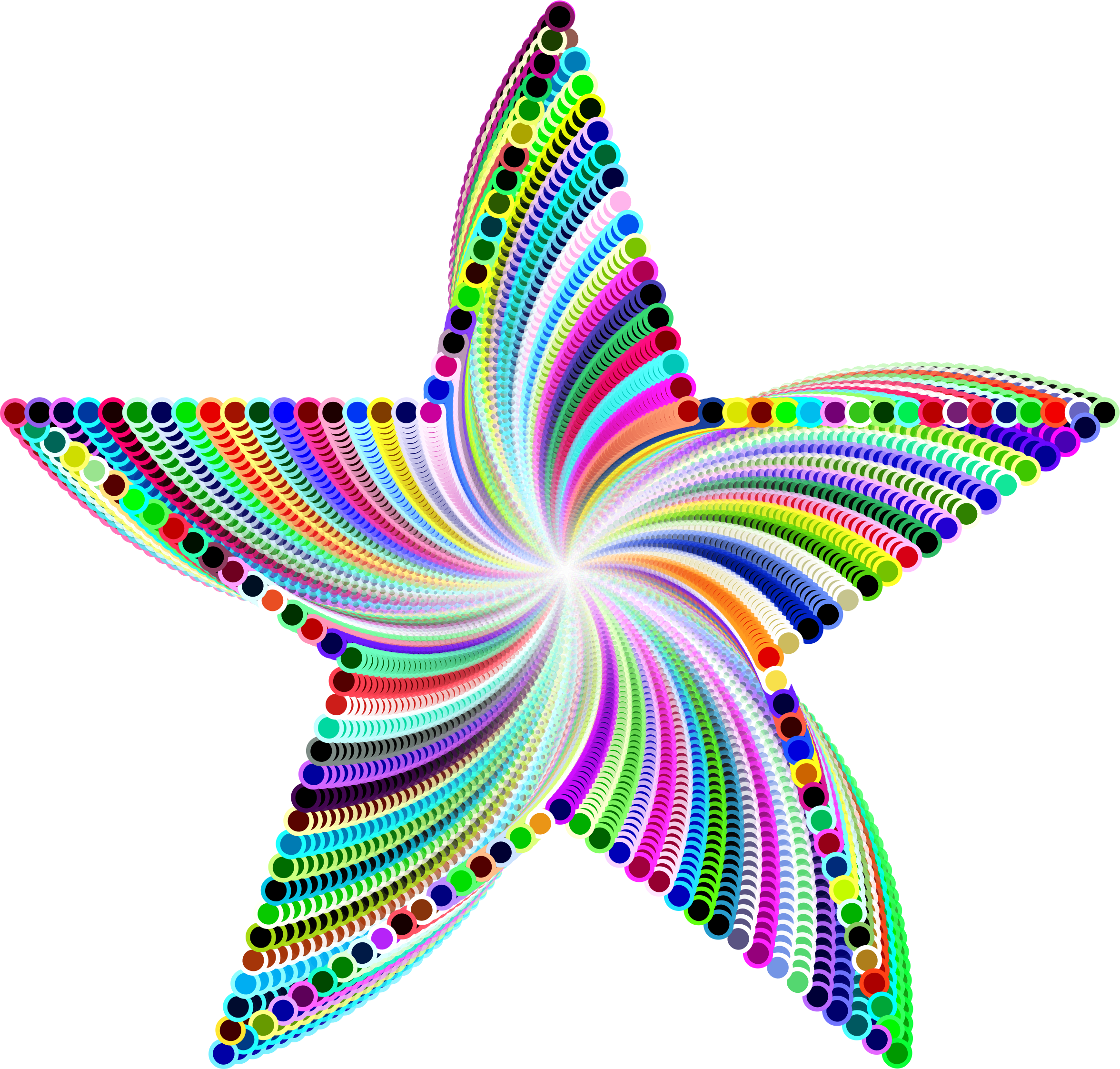 Psychedelic Star Design by GDJ