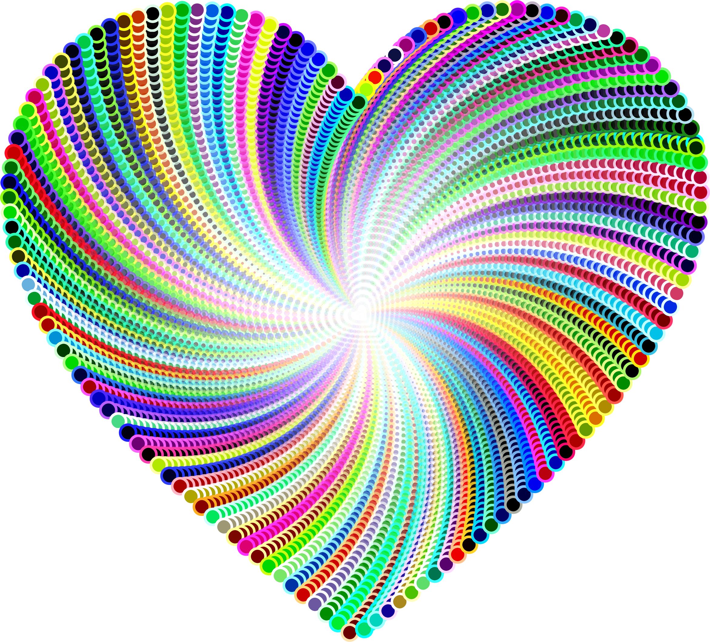 Psychedelic Heart Design by GDJ