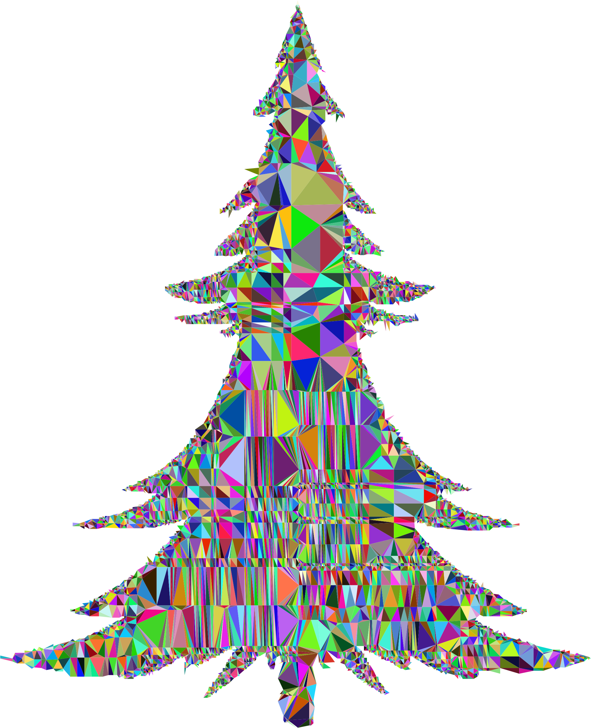 Abstract Christmas Tree Mesh by GDJ