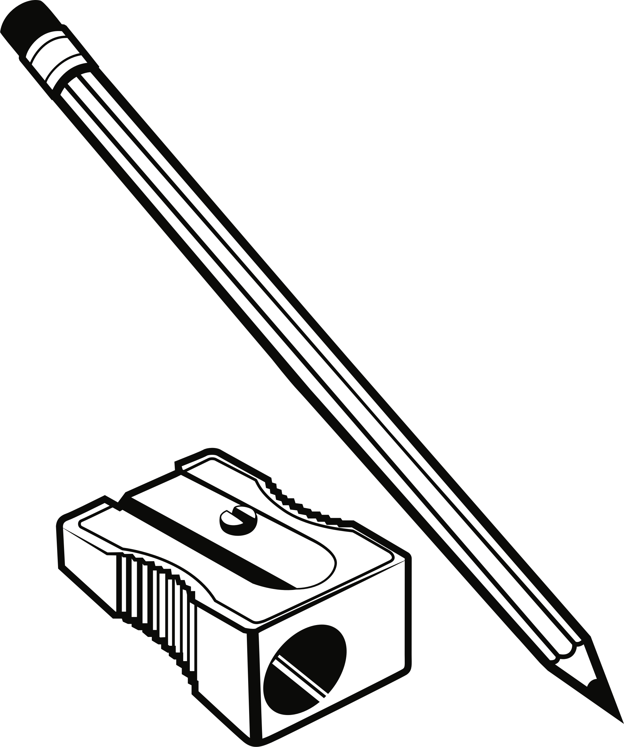 clipart - pencil and sharpener