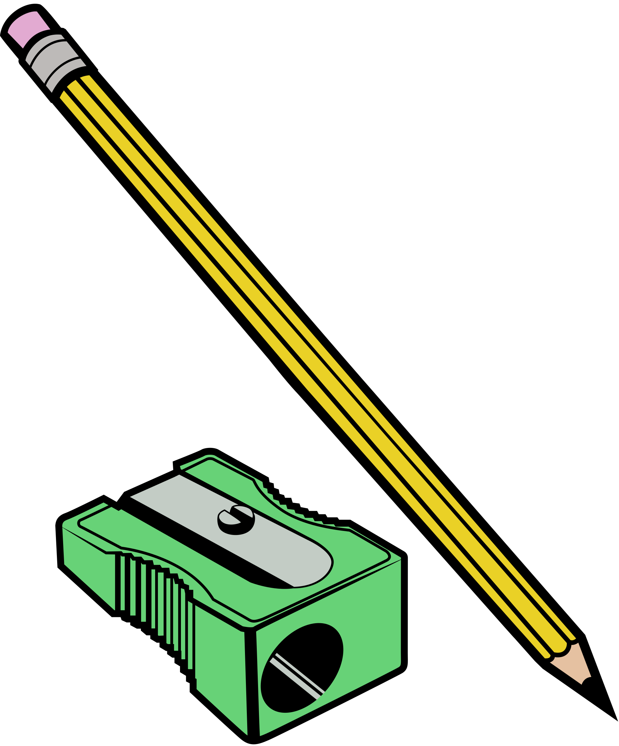 Pencil and Sharpener - Colour by j4p4n
