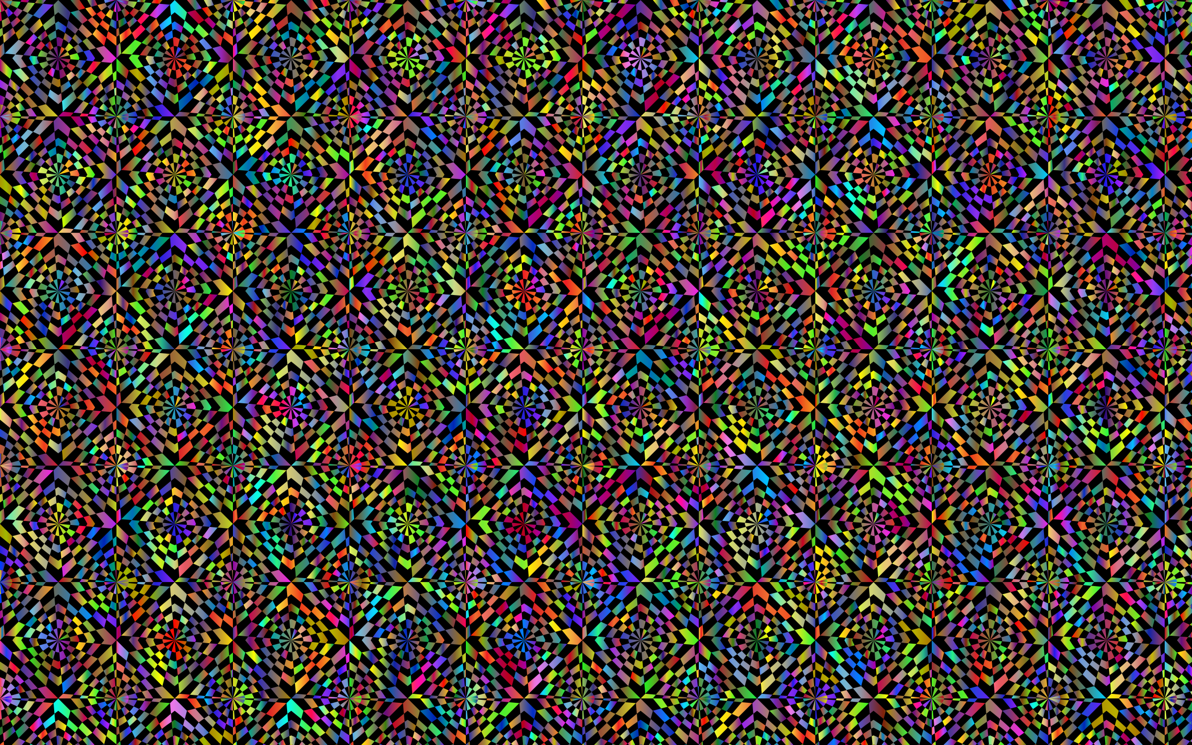 Abstract Distorted Checkerboard Pattern Polyprismatic by GDJ