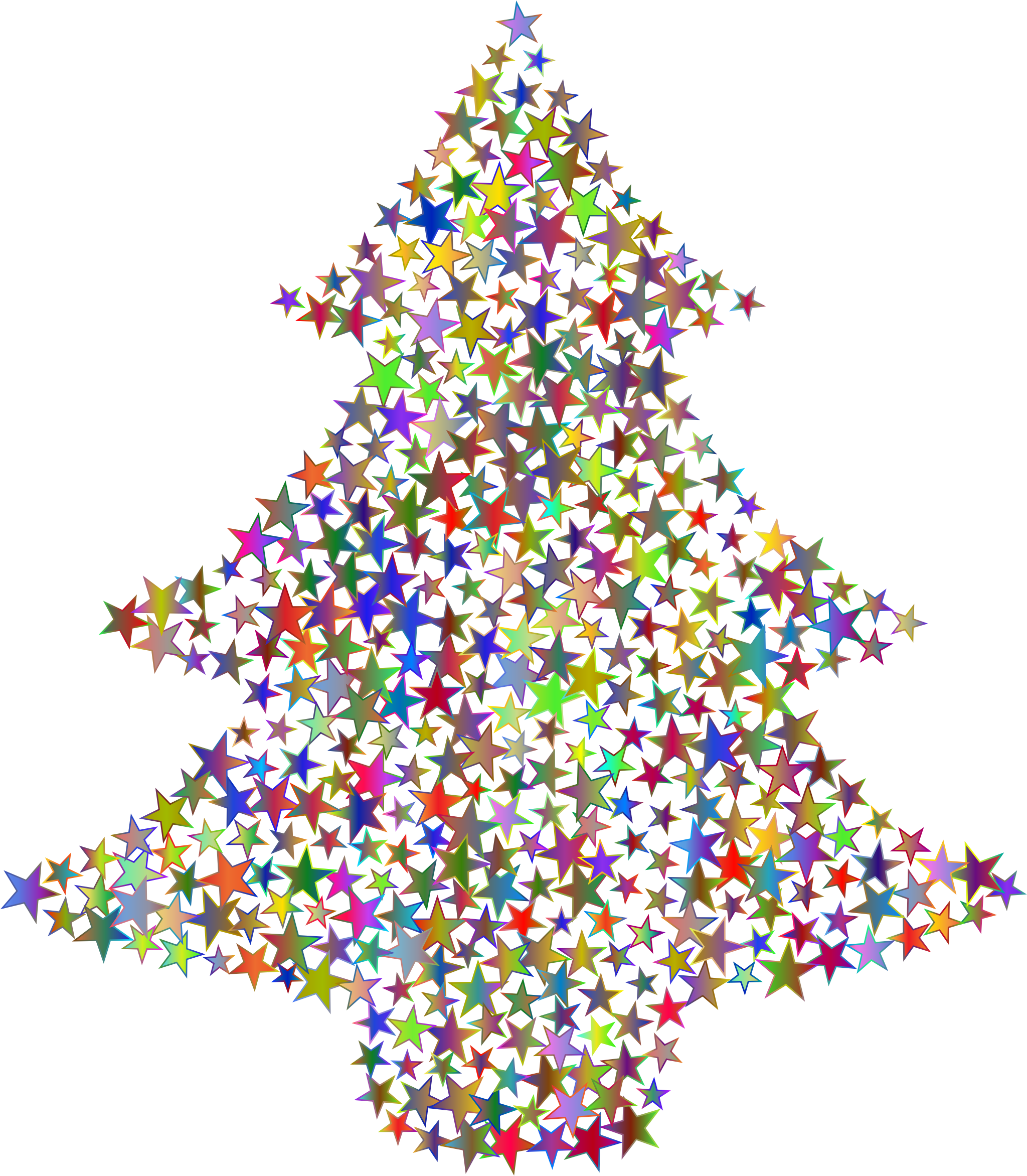 Christmas Tree Stars Polyprismatic No BG by GDJ