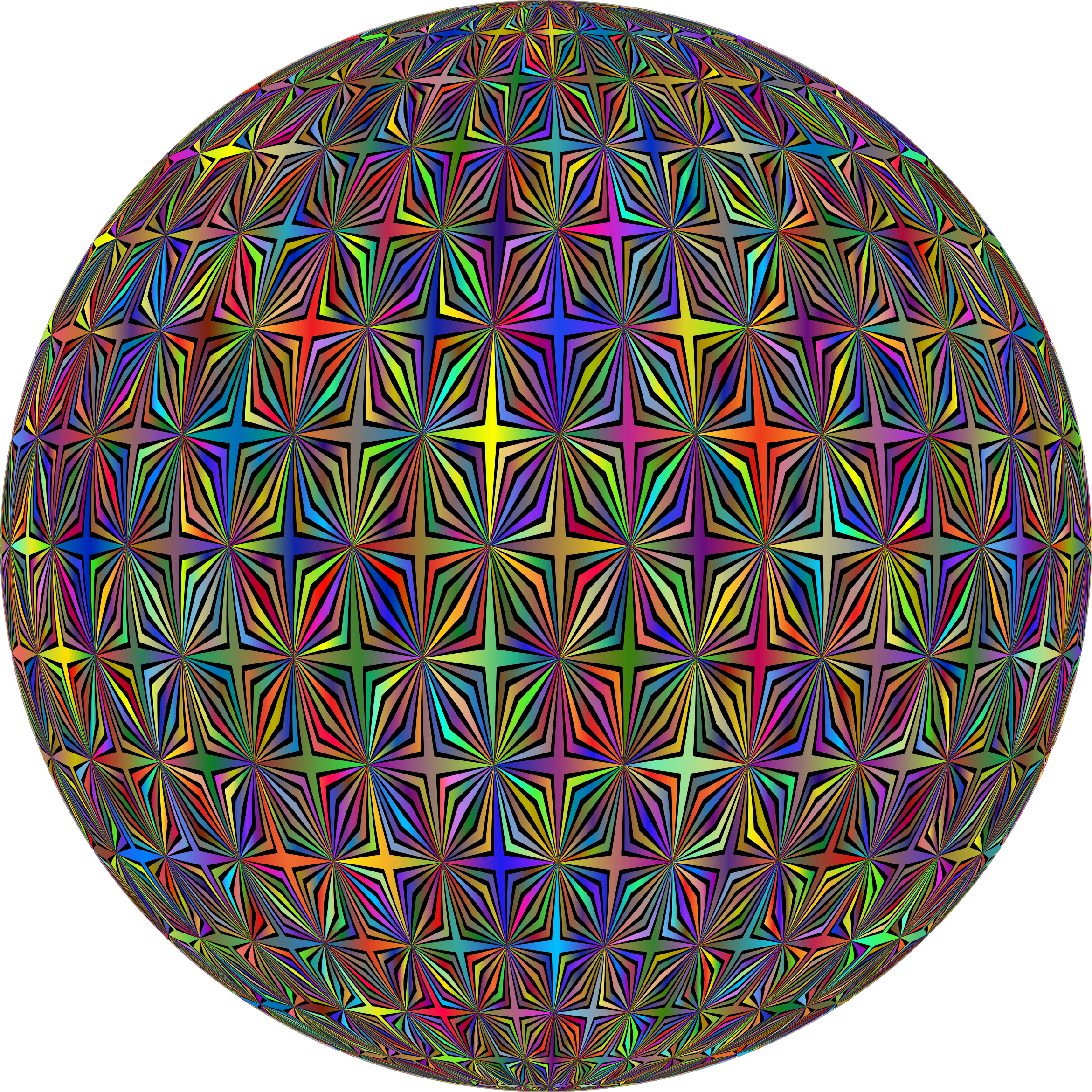 Abstract Hollow Diamonds Pattern Type II Polyprismatic Orb by GDJ