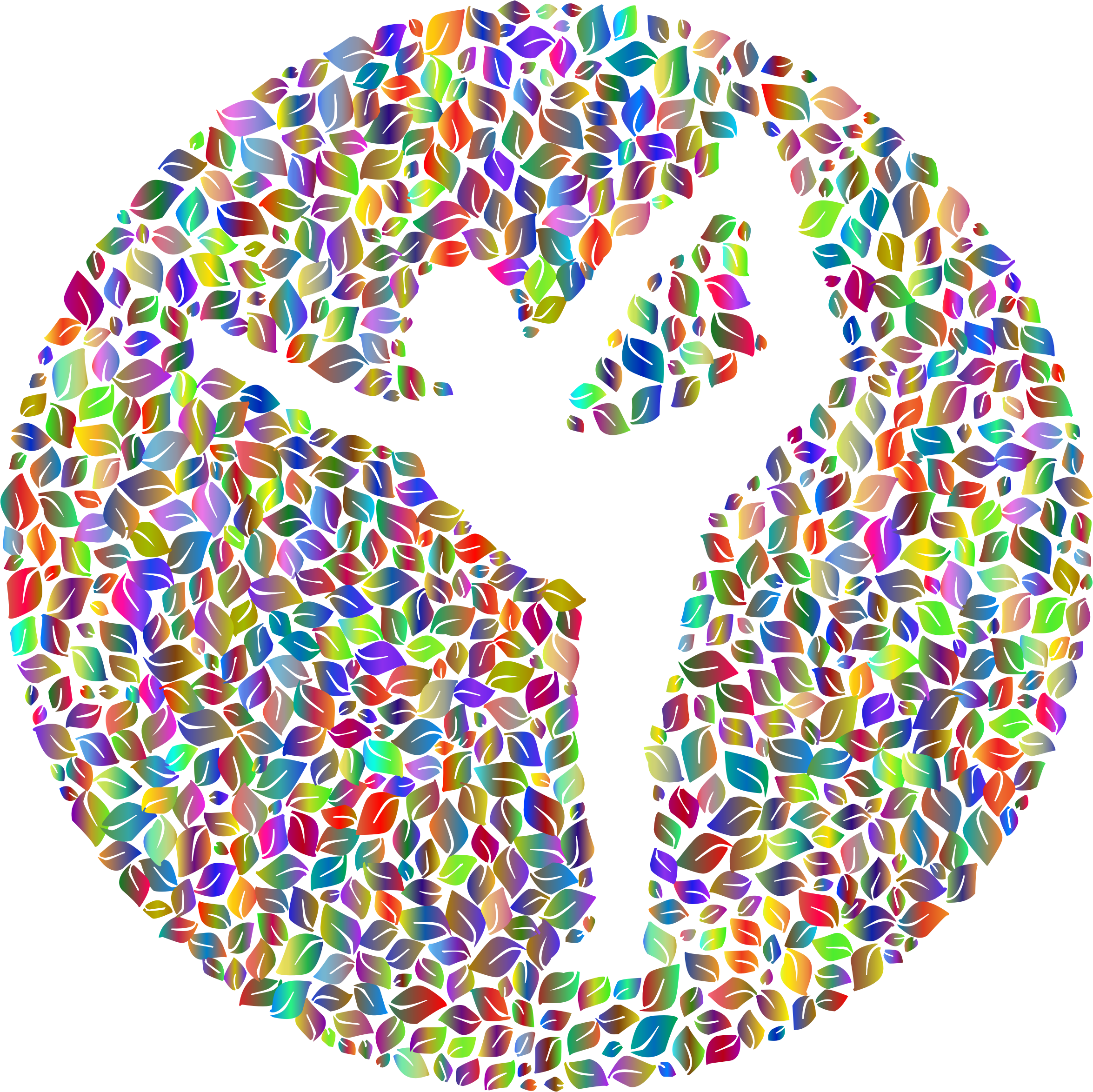 Negative Space Yoga Leaves Polyprismatic No BG by GDJ