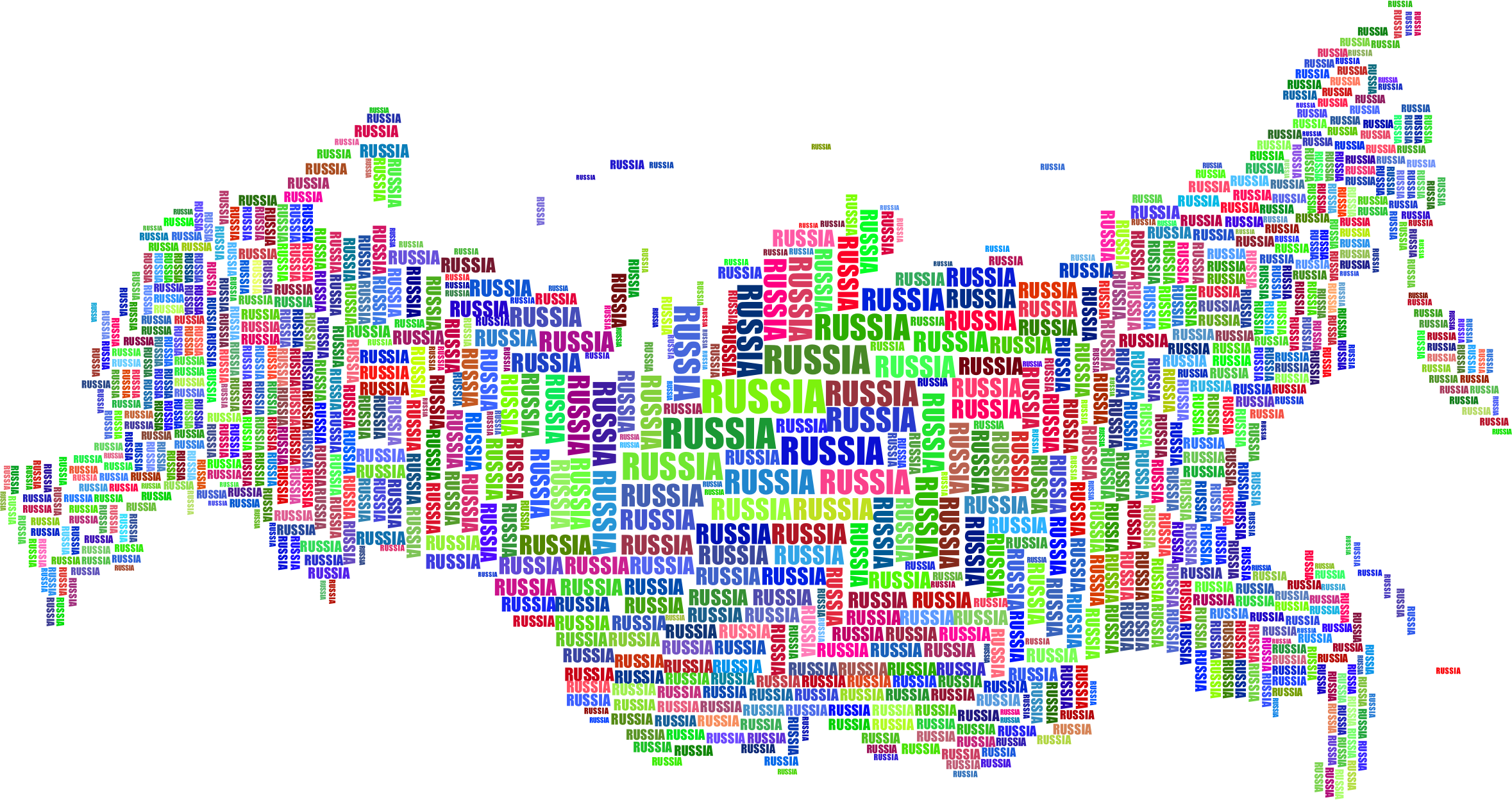 Russia Map Typography by GDJ