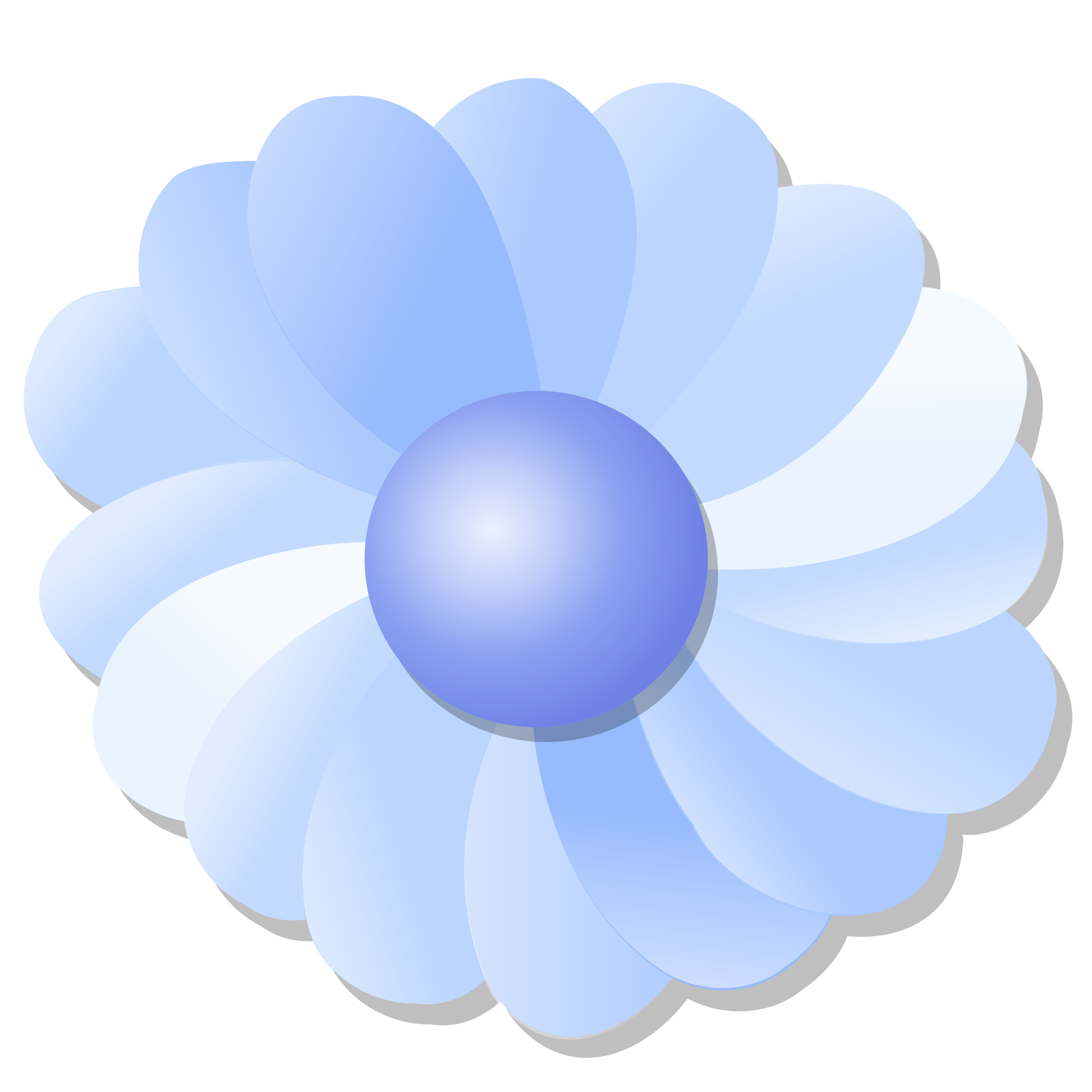 Blue flower by nicubunu