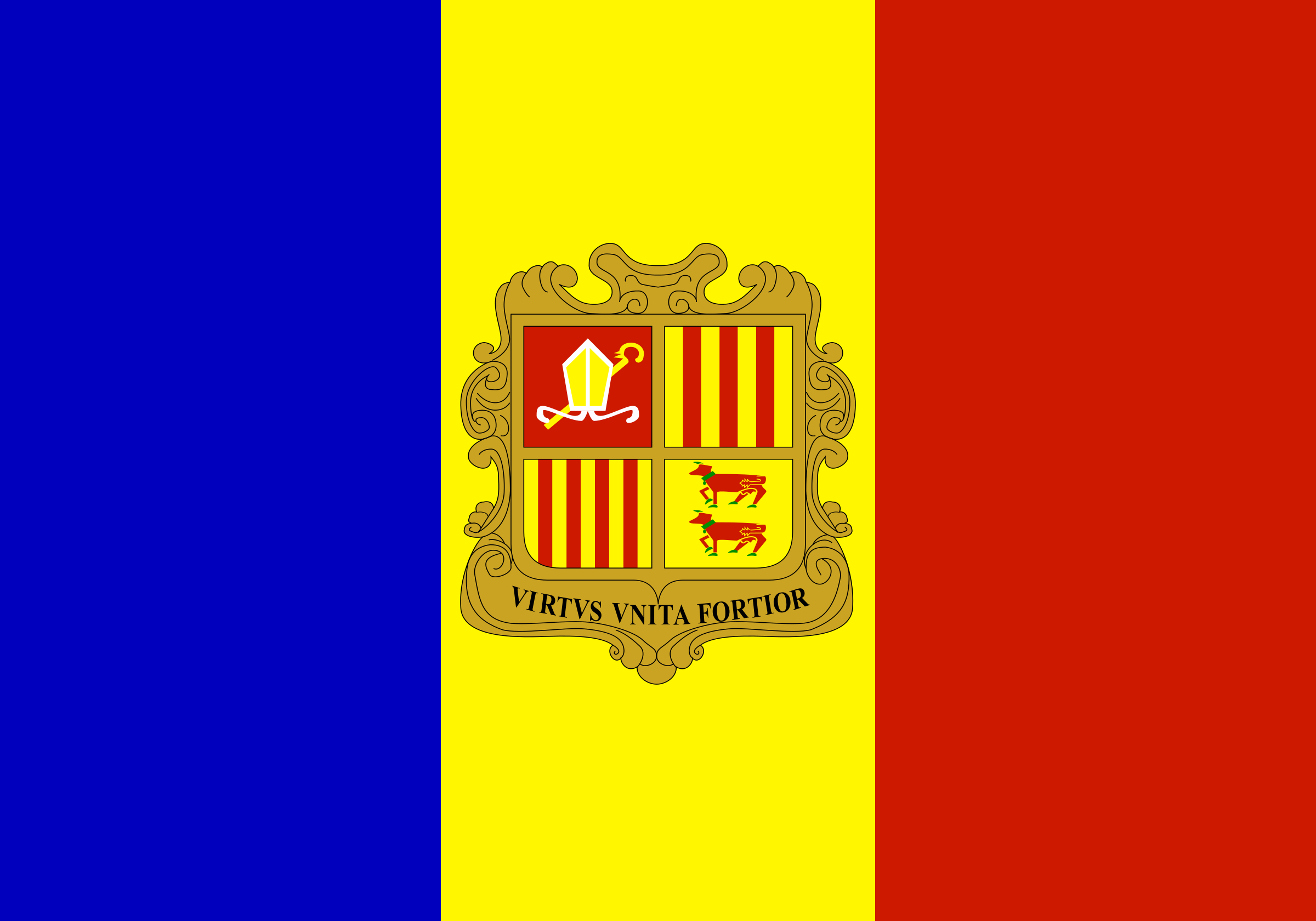 Flag of Andorra by Anonymous