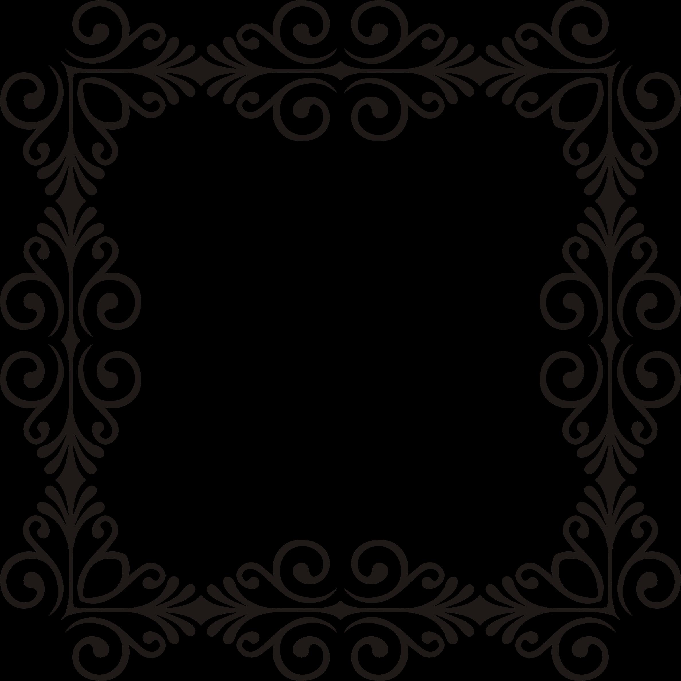 Clipart Art Deco Style Flourish Frame 11