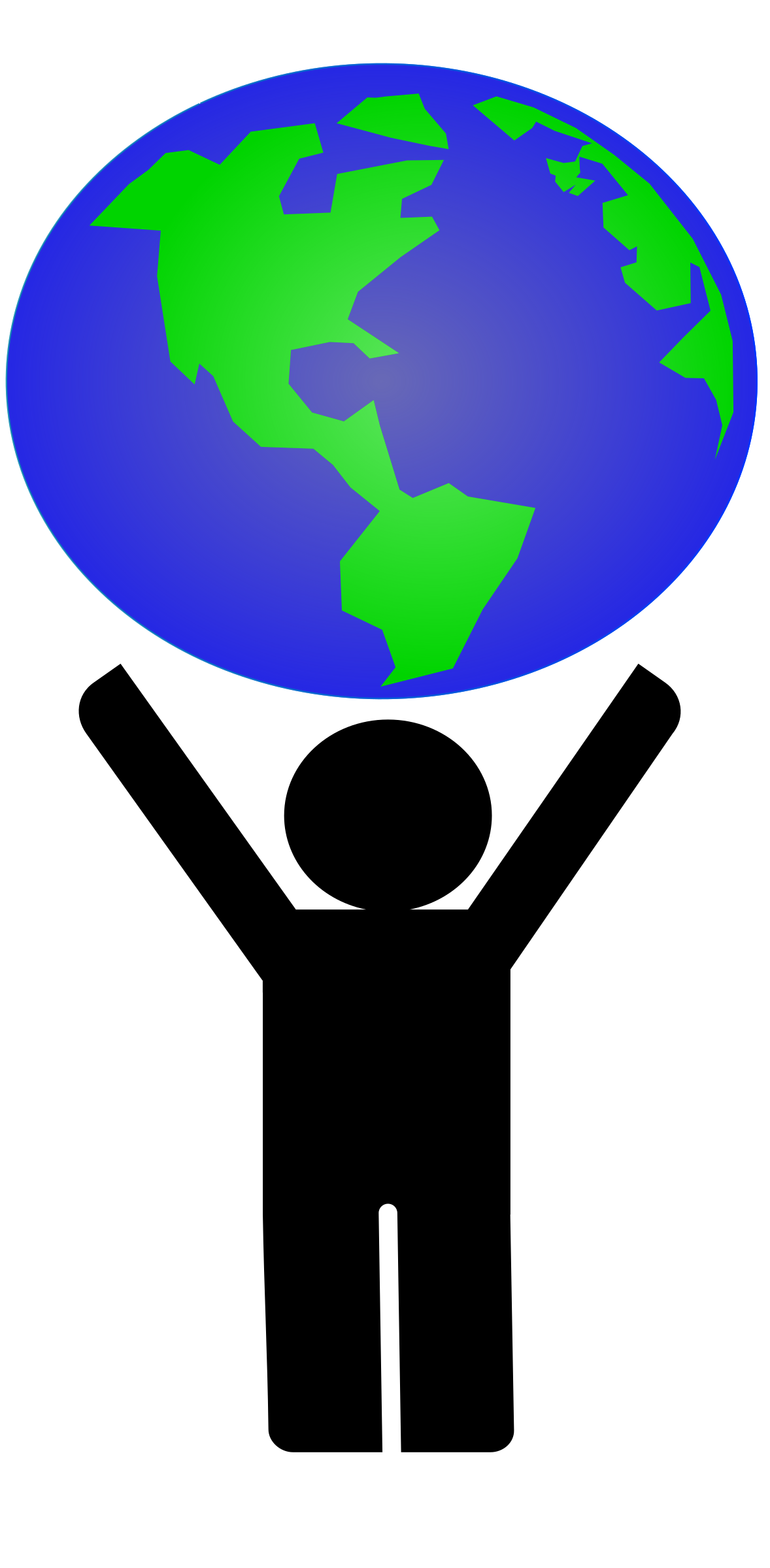 Clipart Supporting The Earth