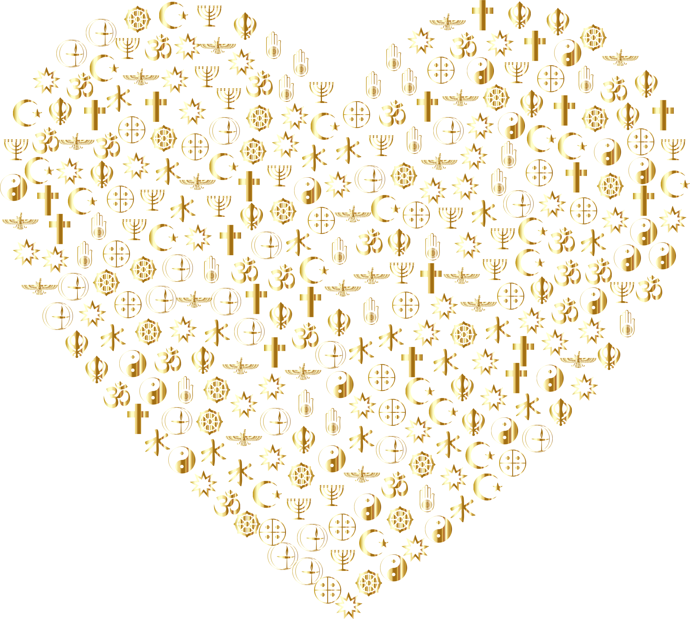 Religious Heart Filled Mark II Gold No BG by GDJ