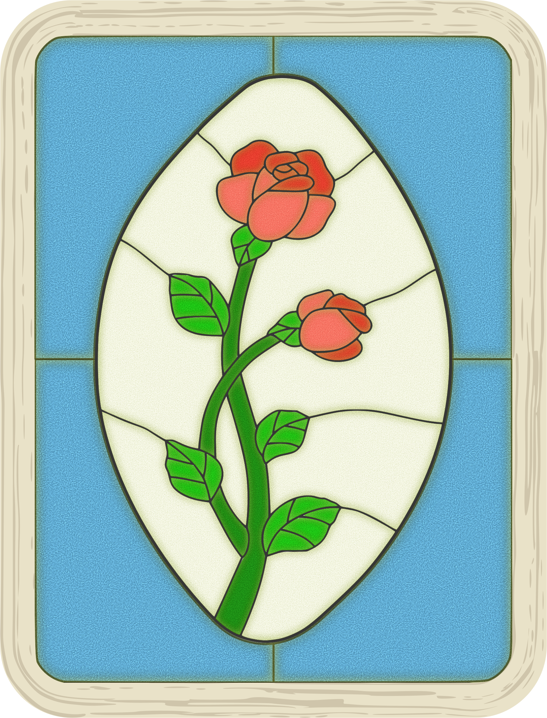 Stained Glass Rose Window by Arvin61r58