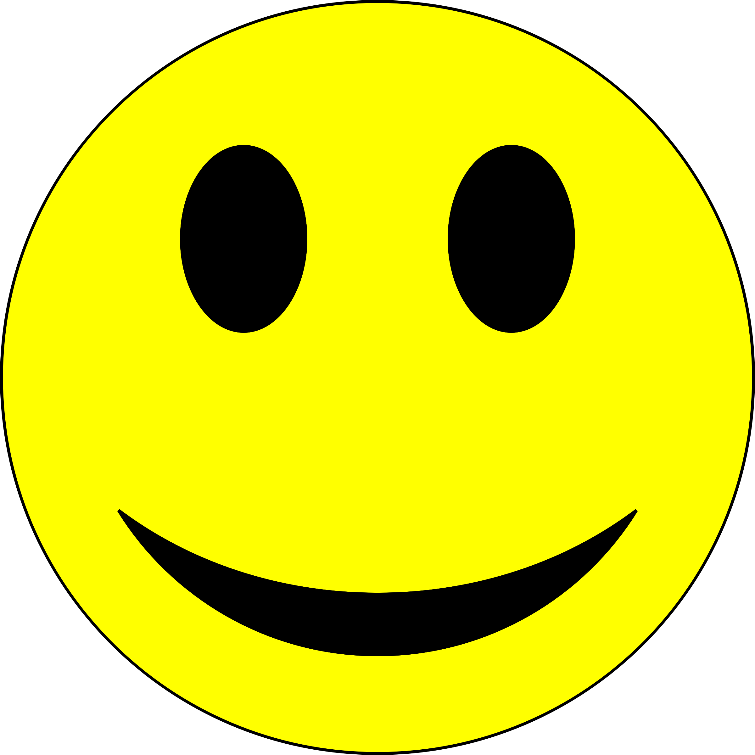 Clipart - Smiley - Yellow and Black