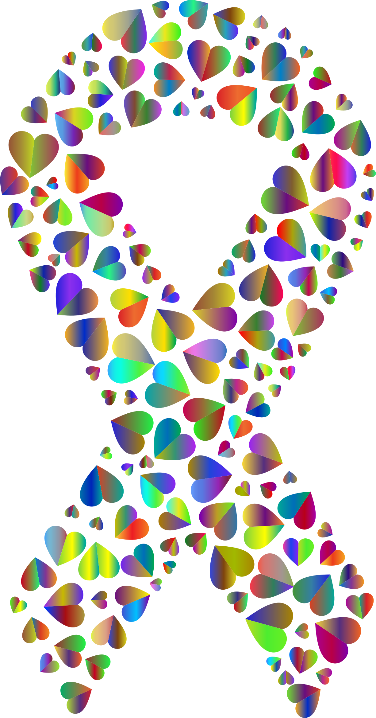 Polyprismatic Hearts Ribbon 2 by GDJ
