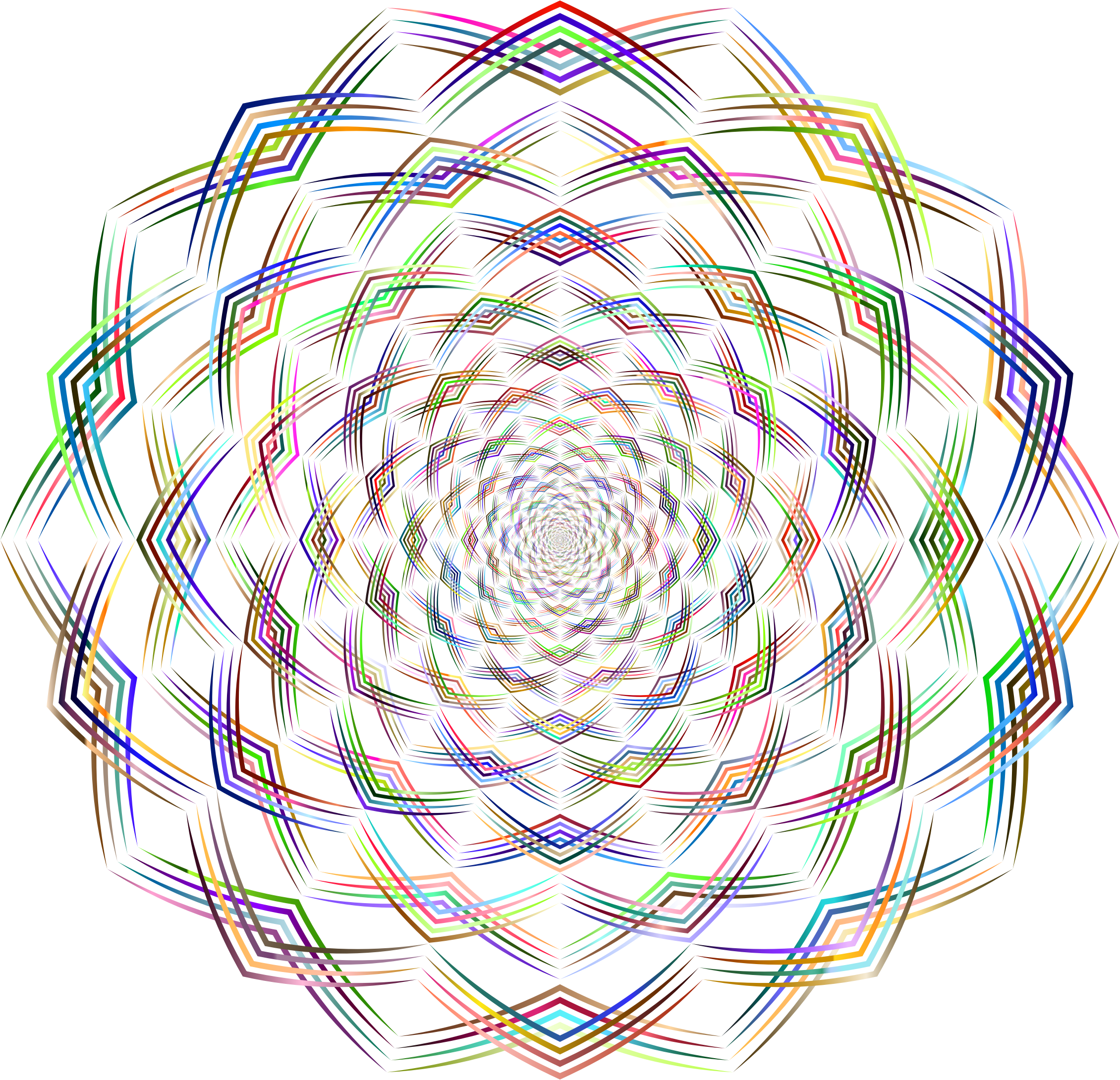 Geometric Lines Vortex Chromatic No BG by GDJ