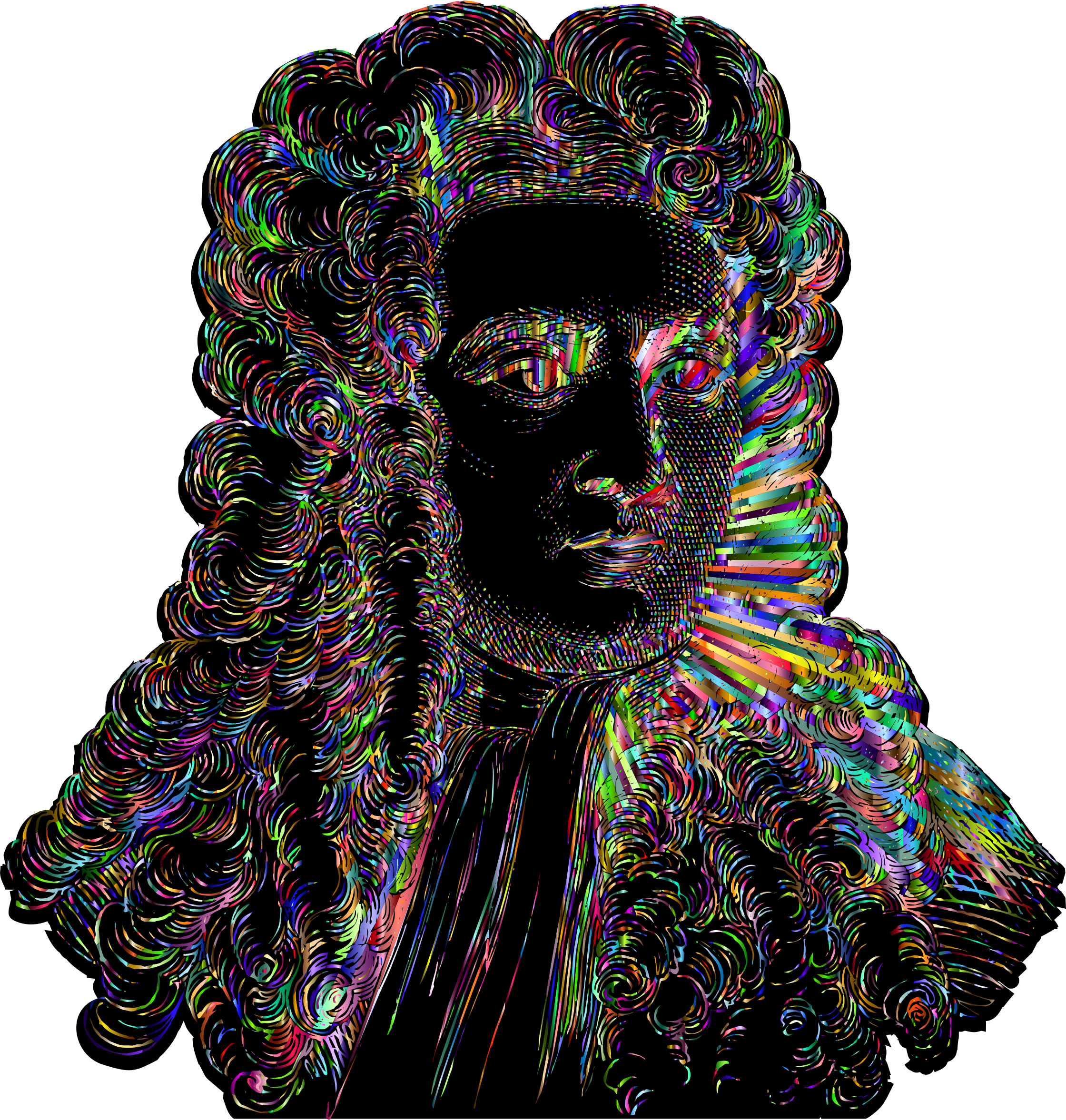 Chromatic Isaac Newton Portrait 2019 by GDJ