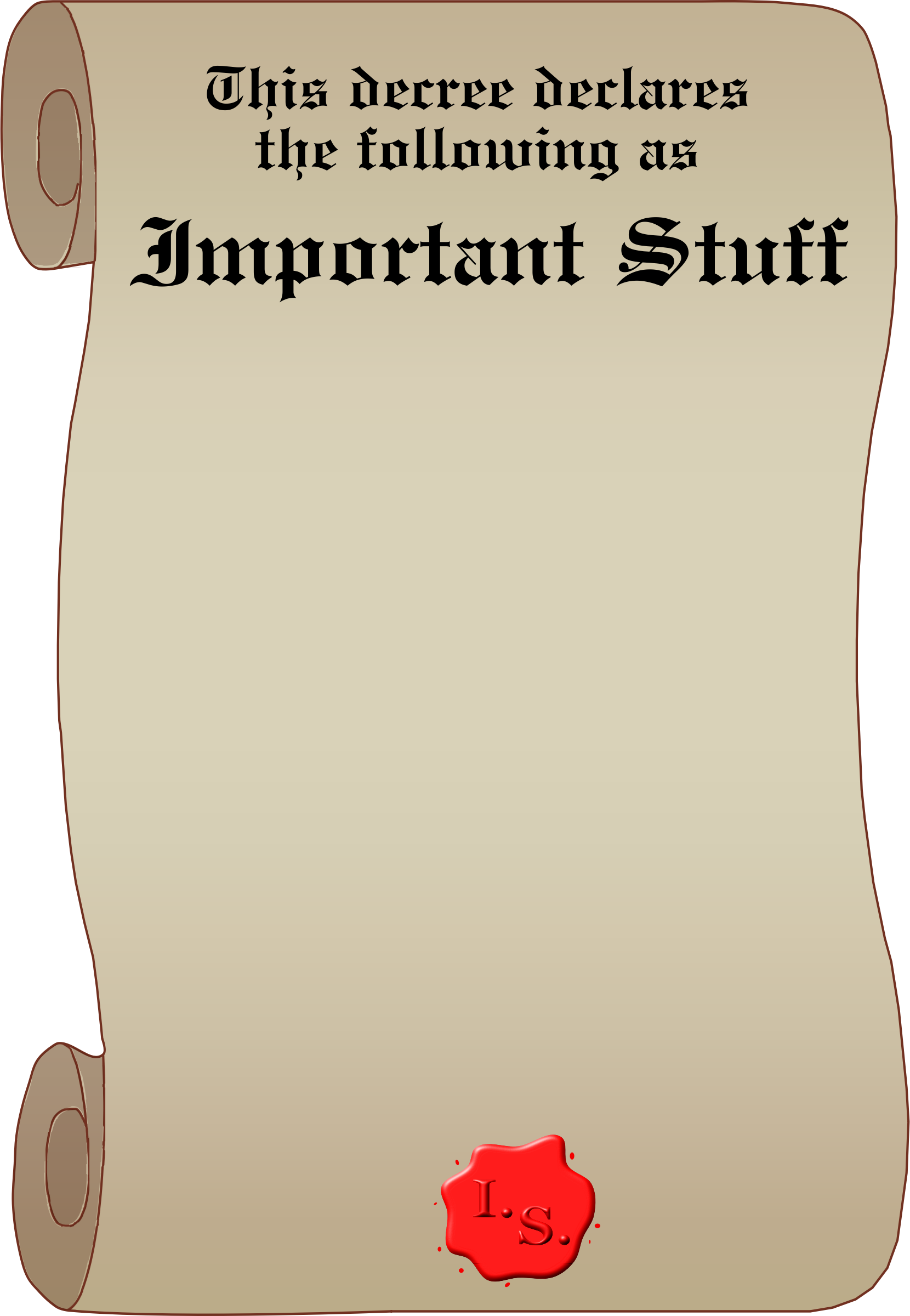 Important Stuff Decree by Arvin61r58
