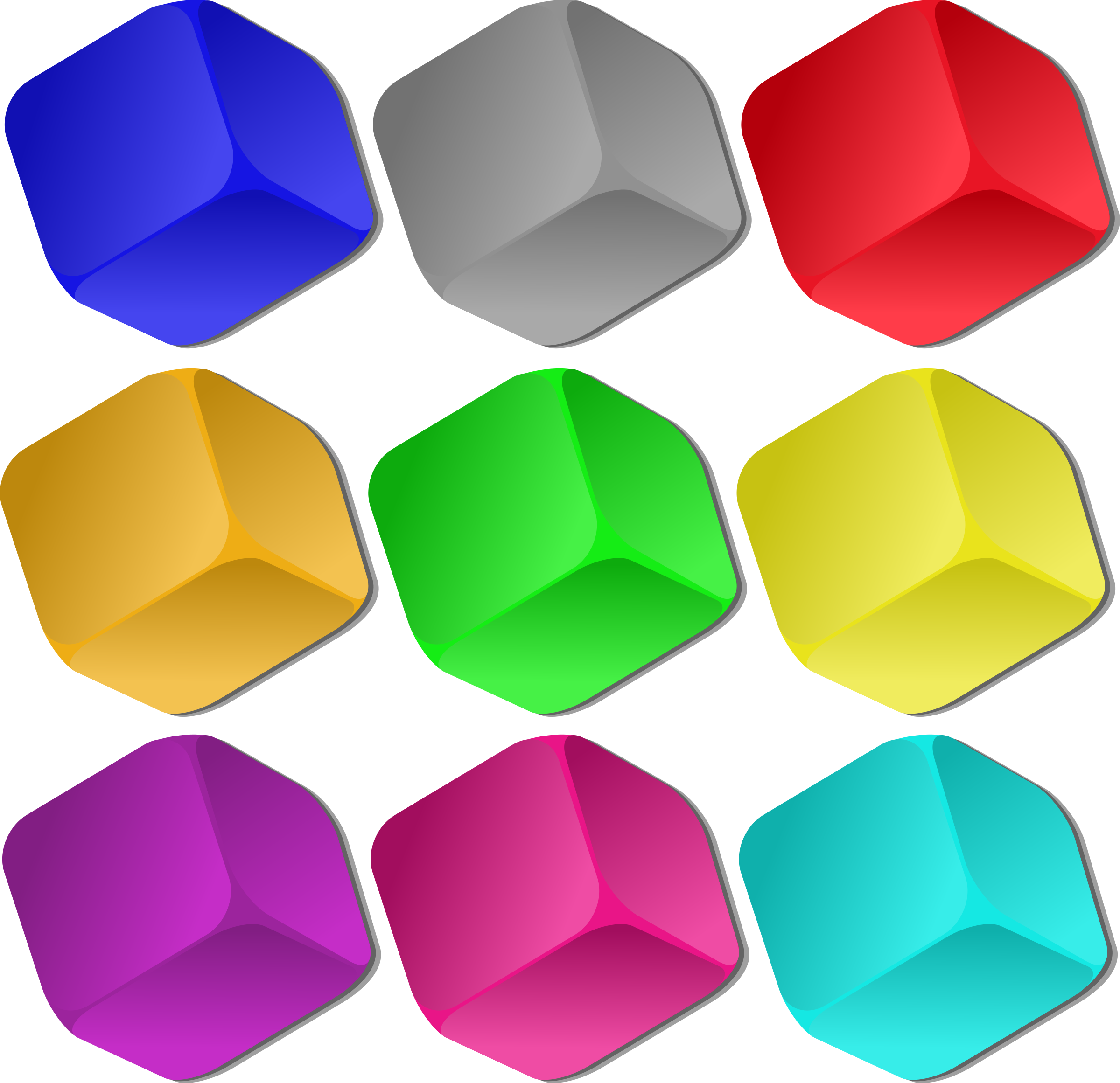 Game Marbles - cubes by nicubunu