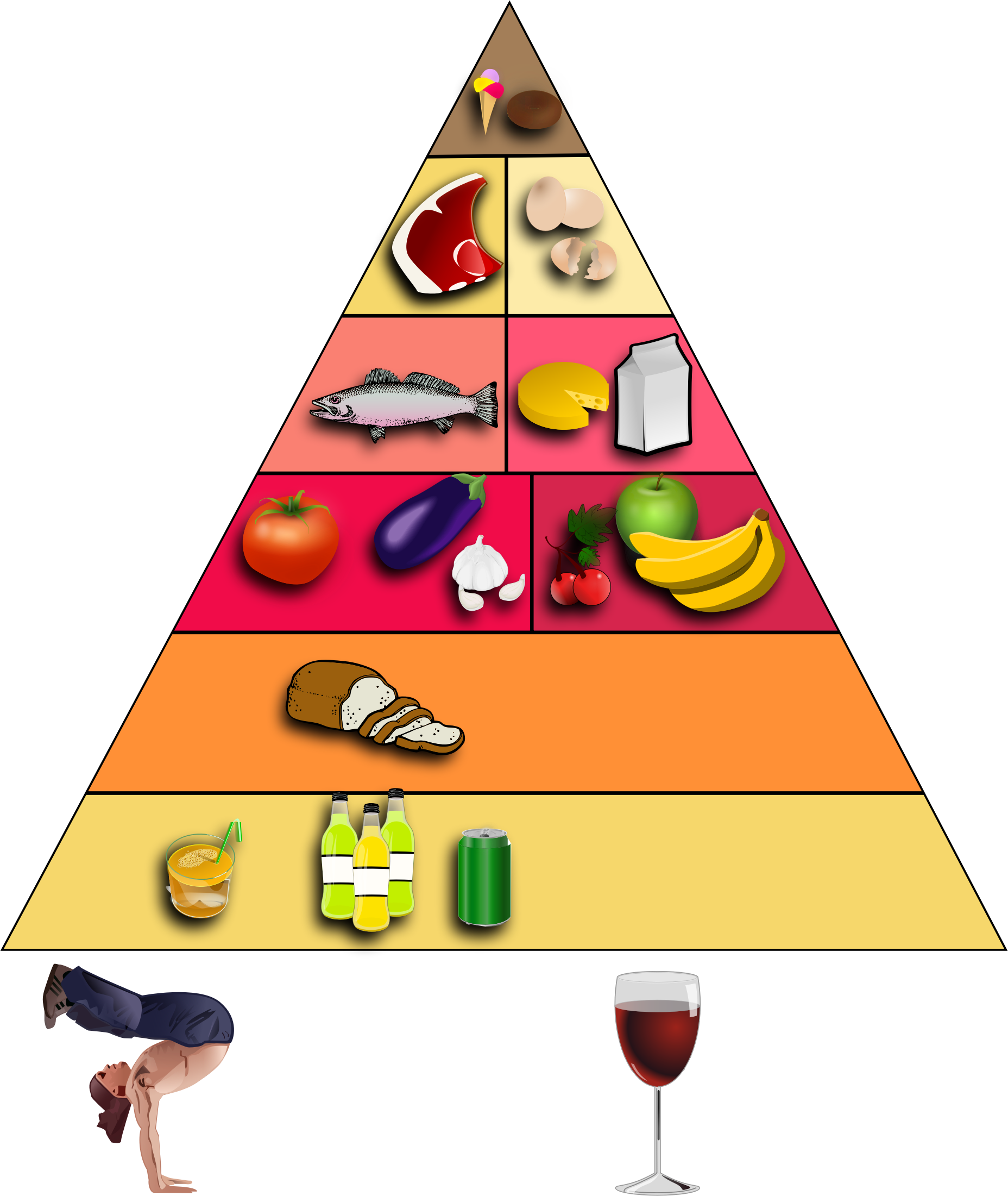 Food Pyramid No Text by GDJ