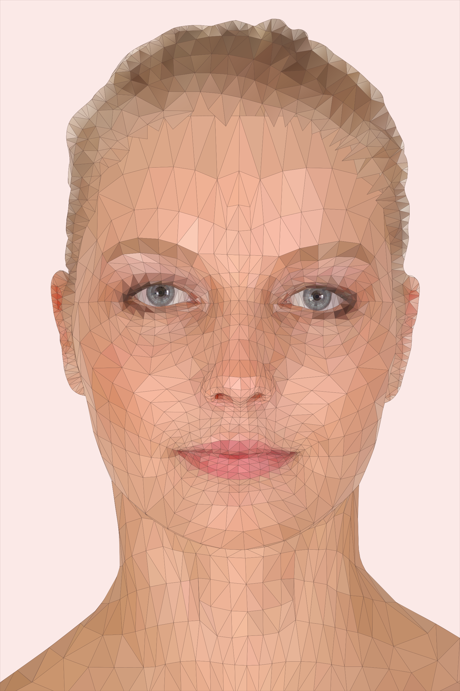 Woman Face Model - Low Poly Art by DG-RA