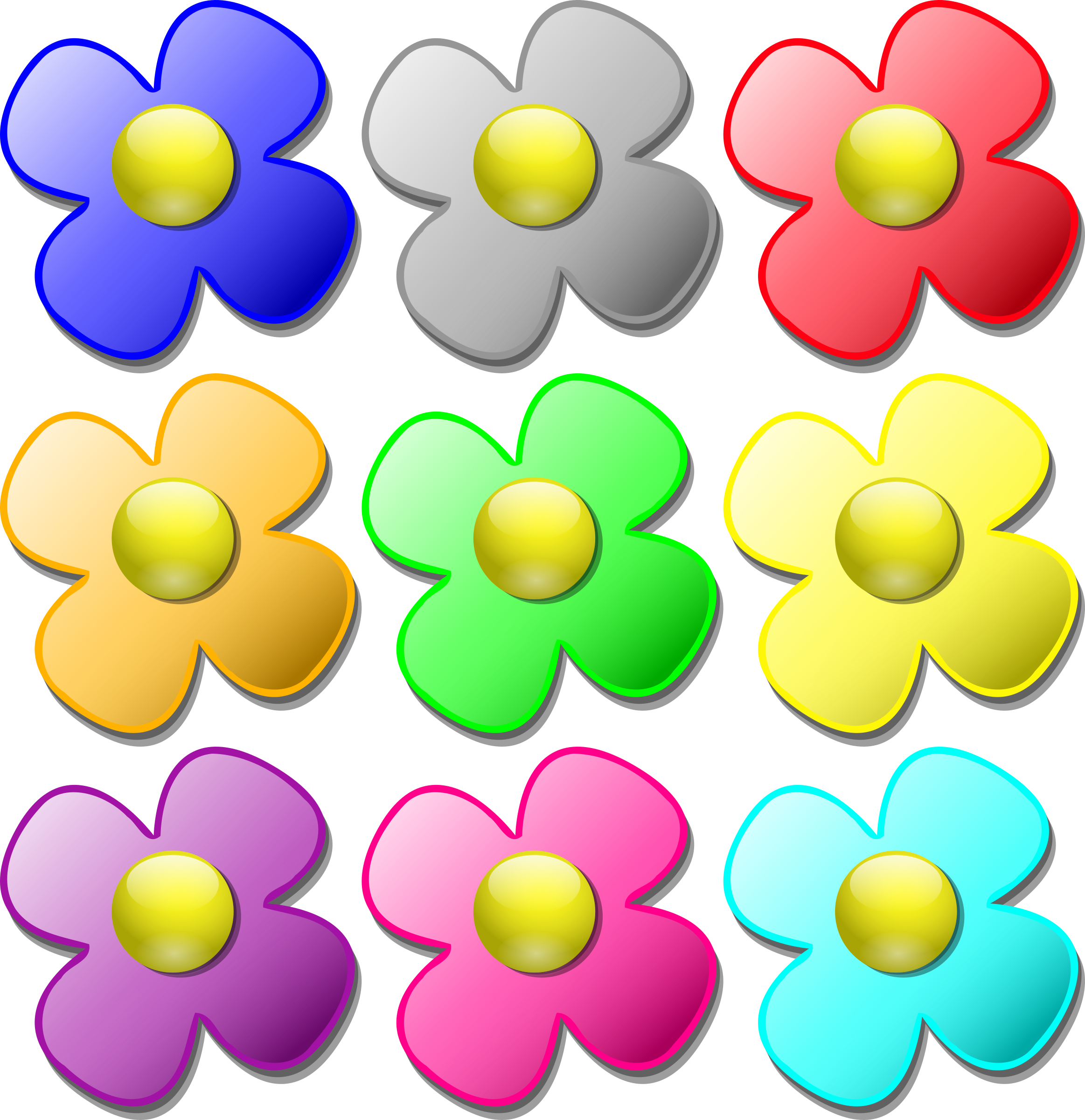 Game marbles - flowers by nicubunu