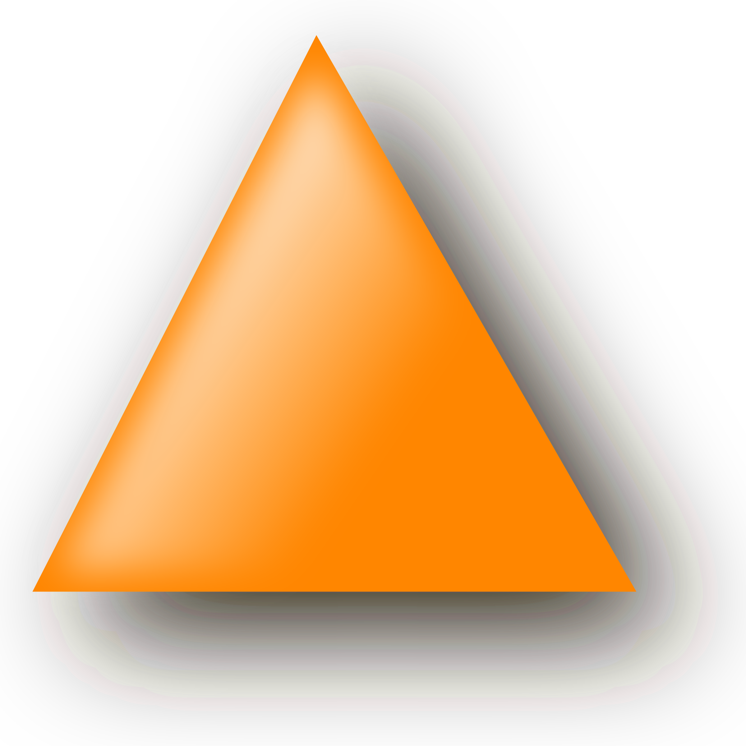 orange triangle by nlyl