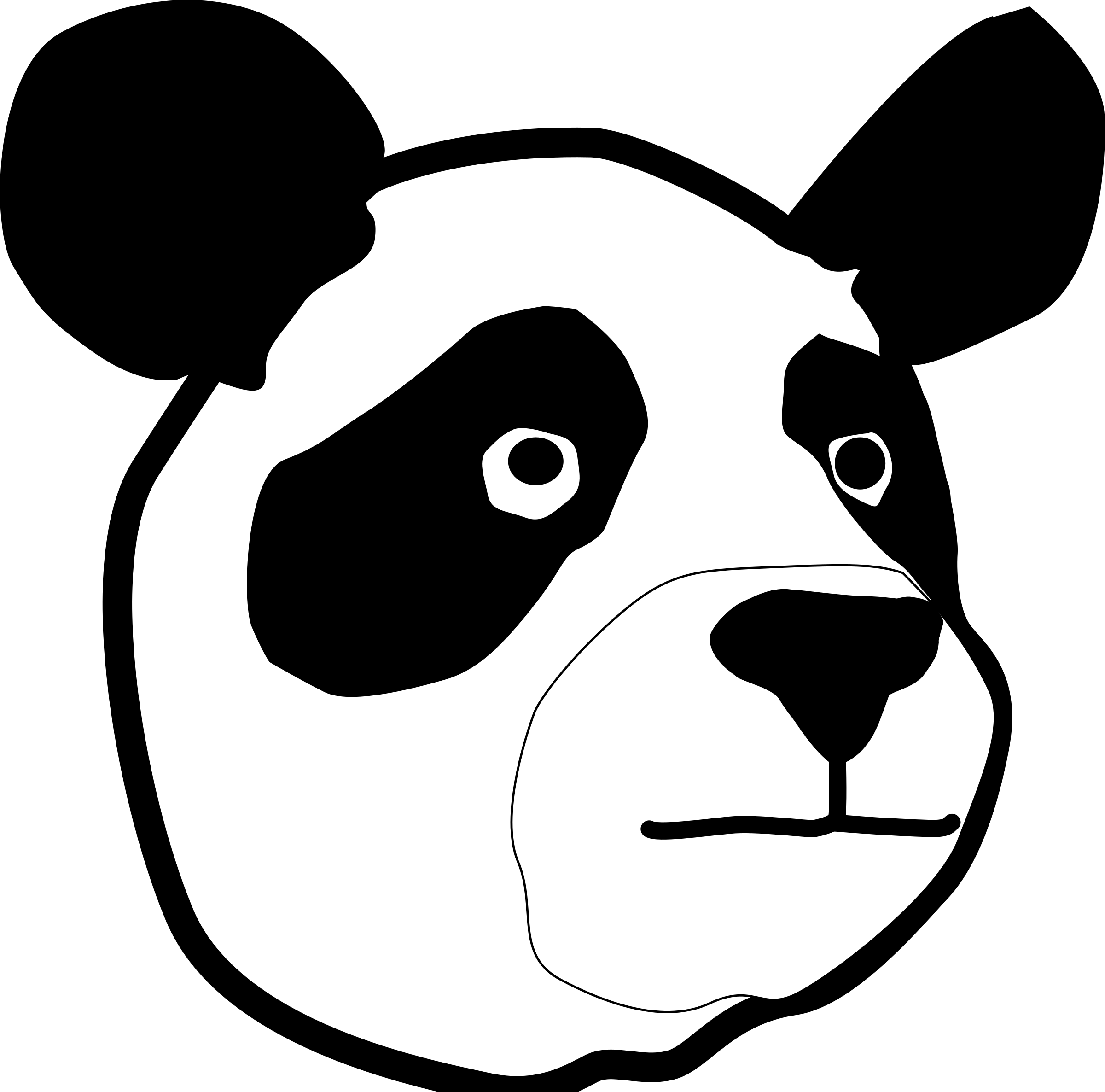 Panda Head by rejon
