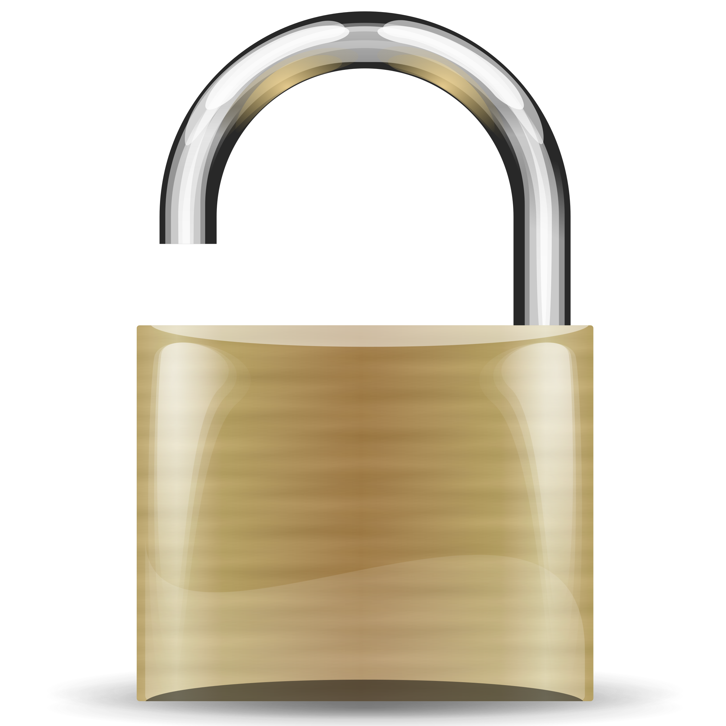 open padlock by Anonymous