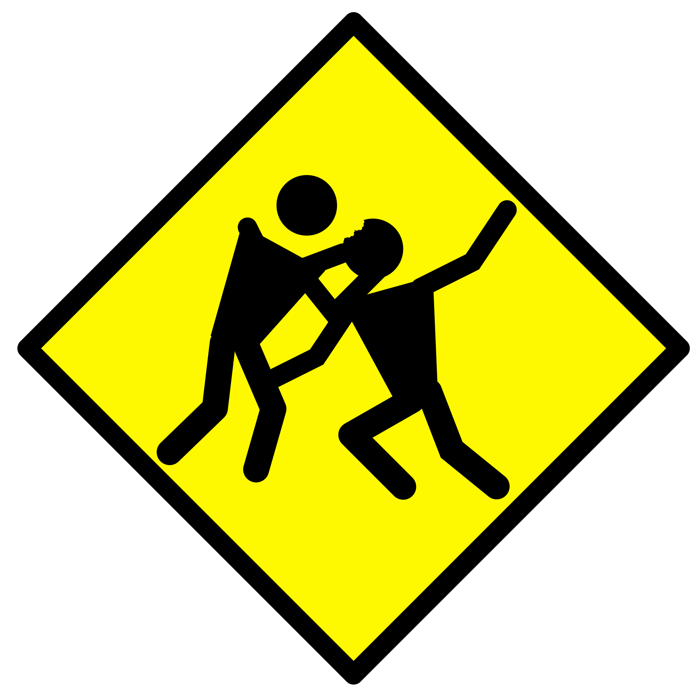 Zombie Warning Road Sign by bnielsen