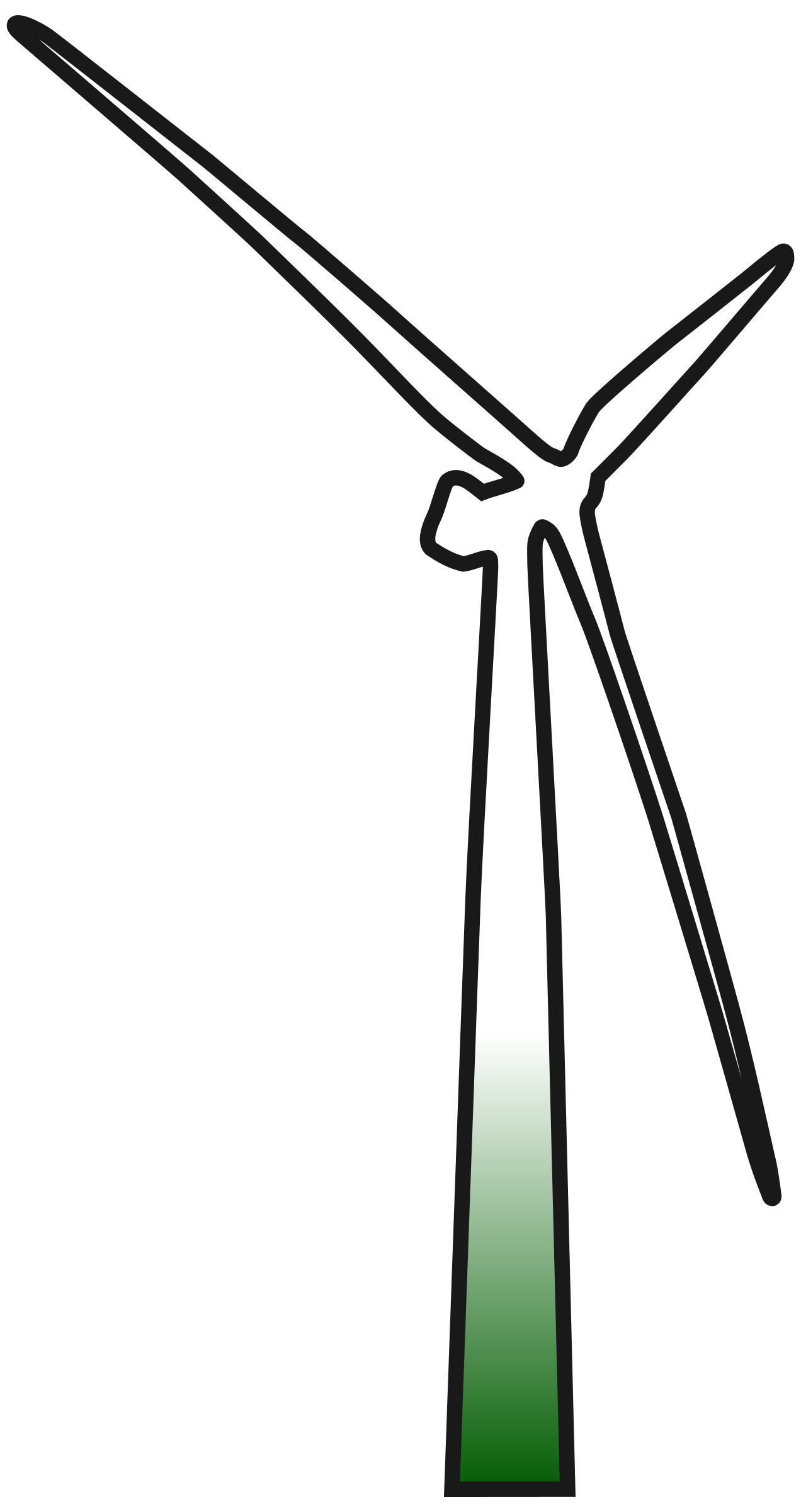 clipart wind turbine 2 rh openclipart org Cartoon Wind Turbine clipart wind turbine svg