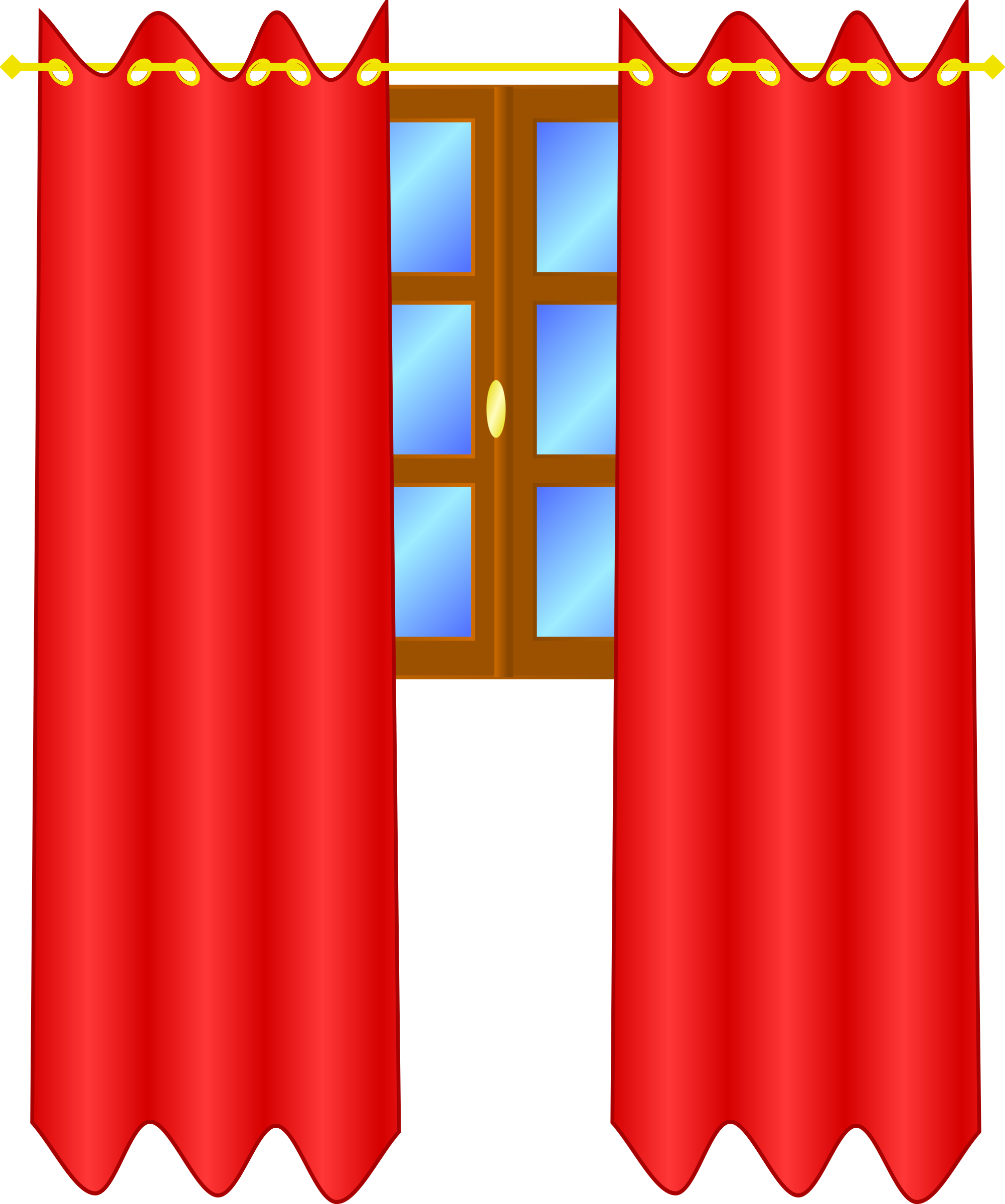 Window with draperies by freedo