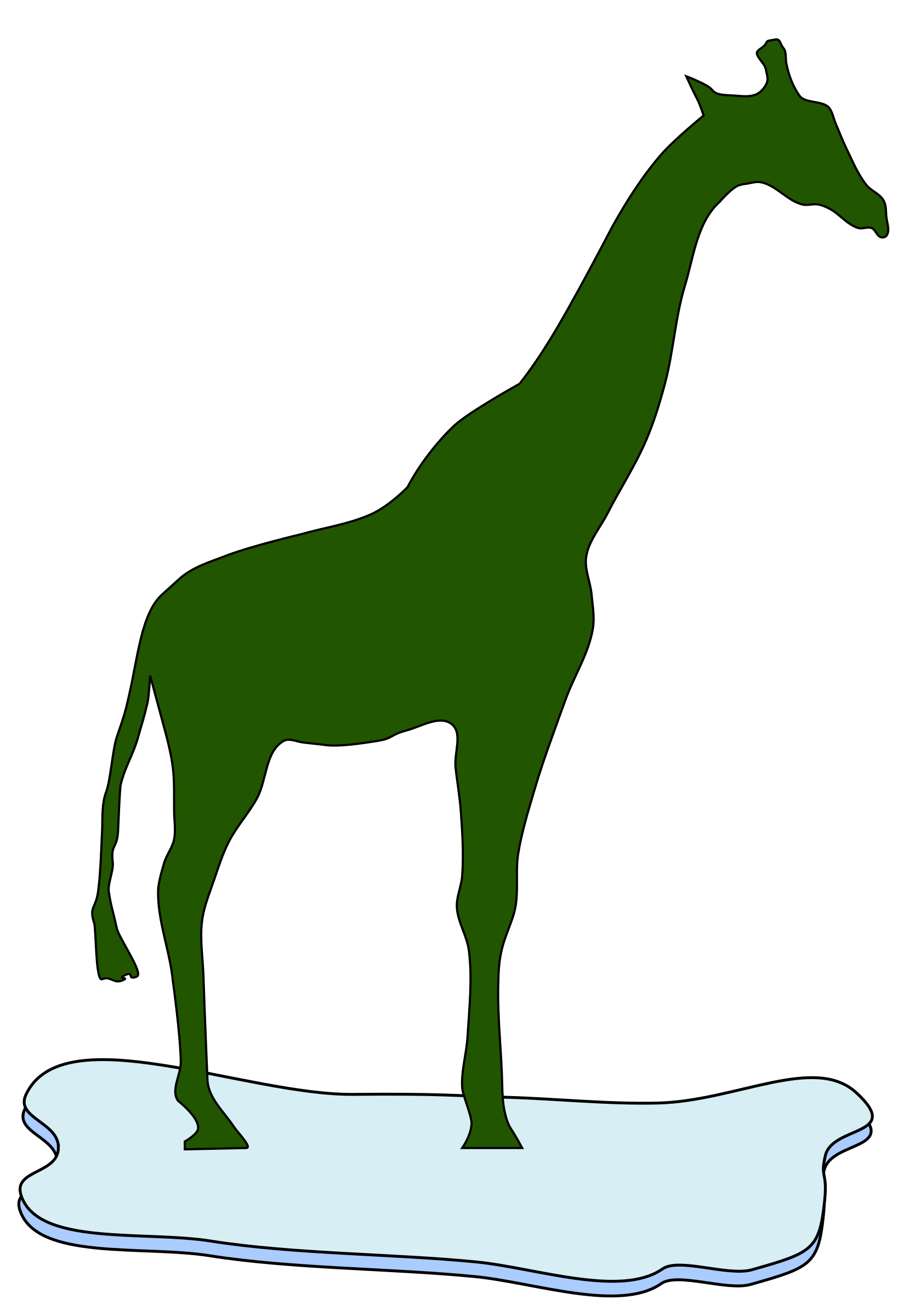 giraffe on ice by redccshirt
