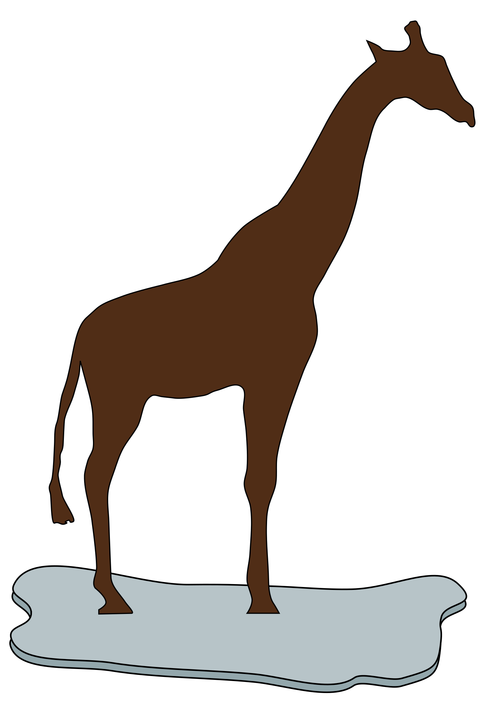 giraffe on ice brown by redccshirt