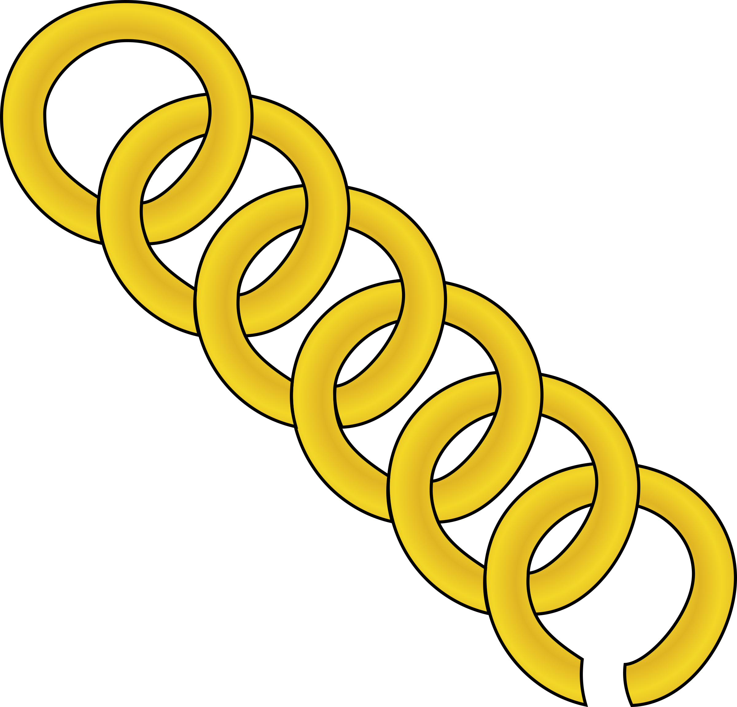 gold chain of round by jonadab