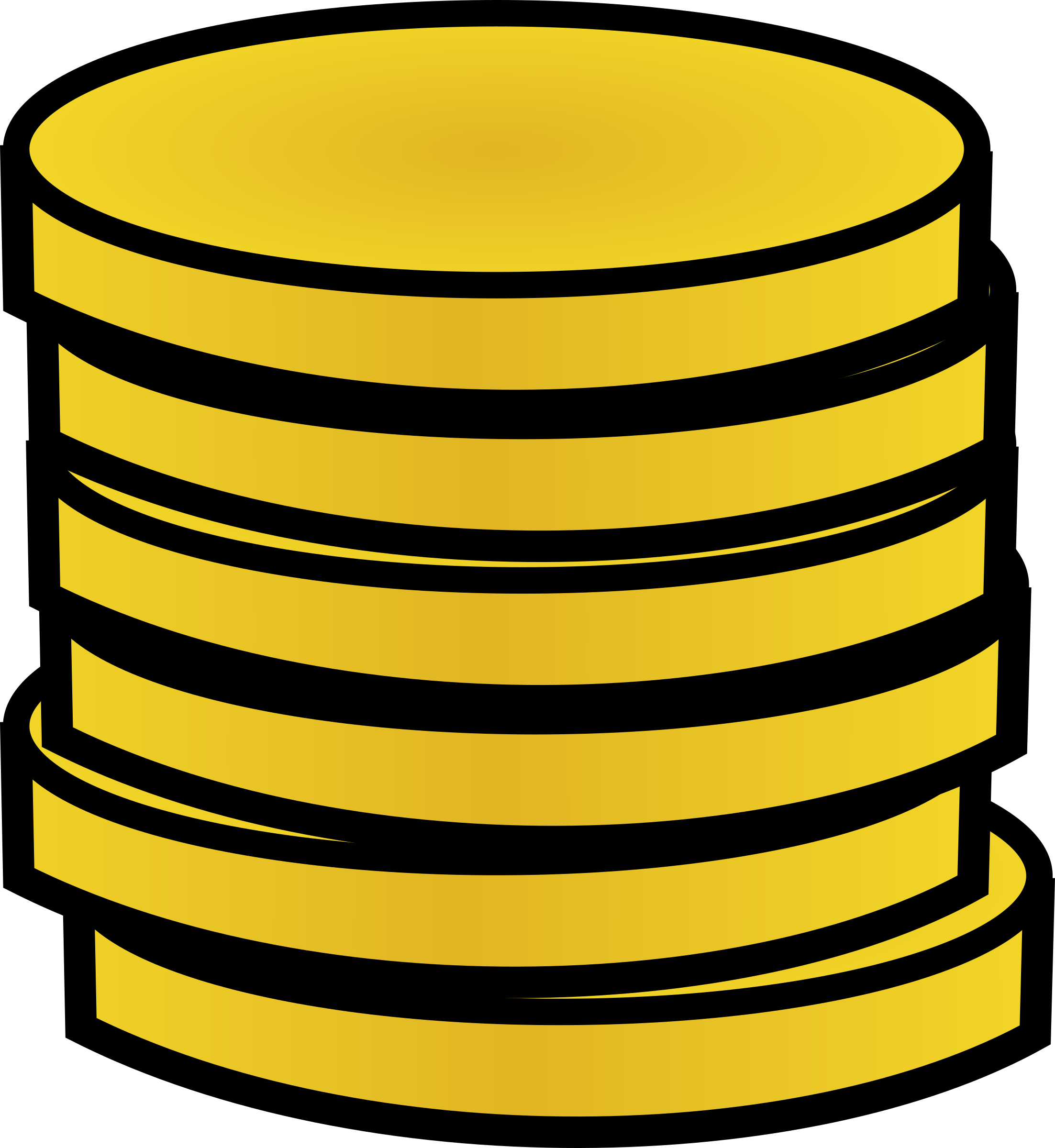 Stack of gold coins by jonadab